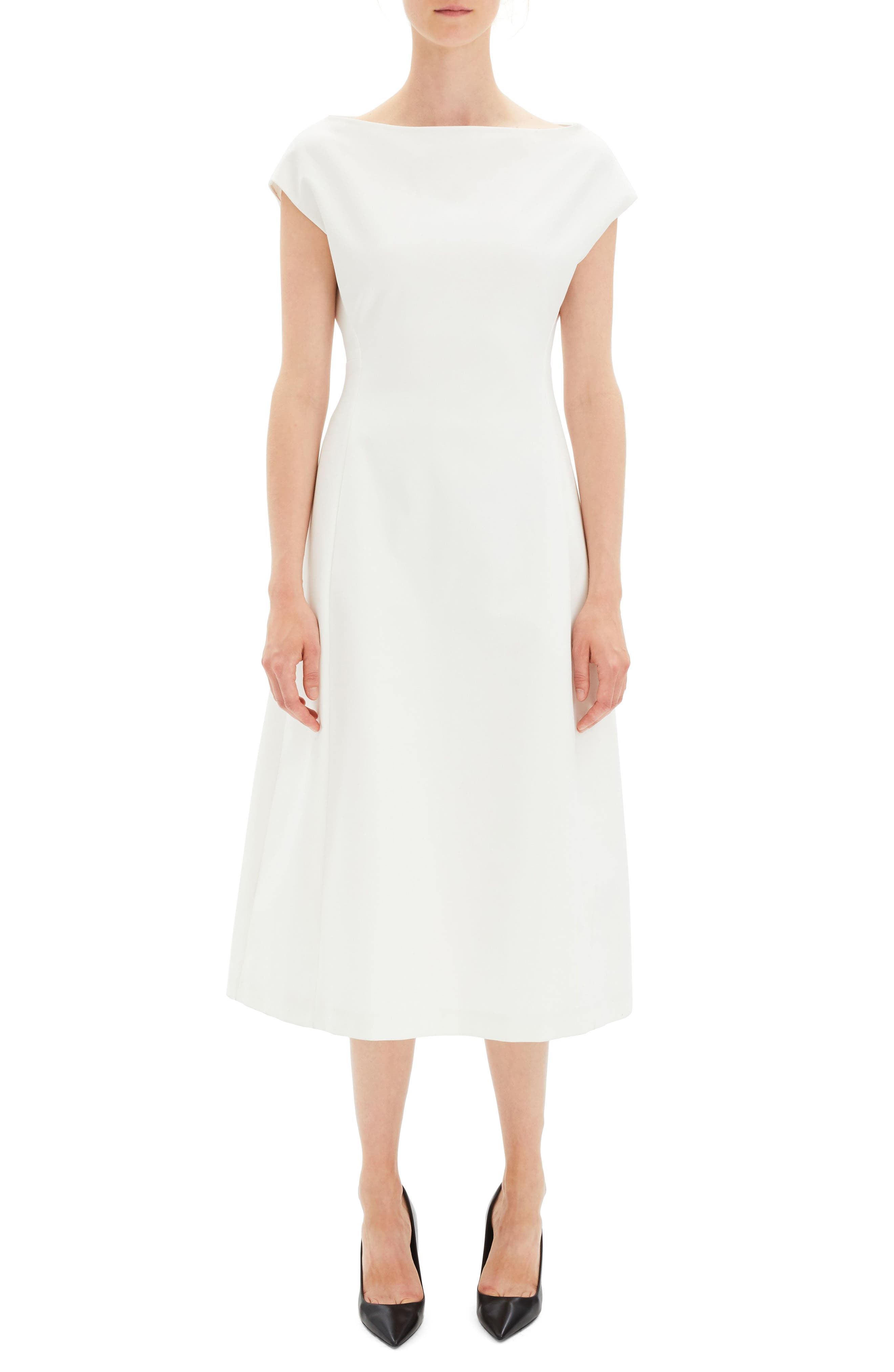 Theory Tulip Dress, White