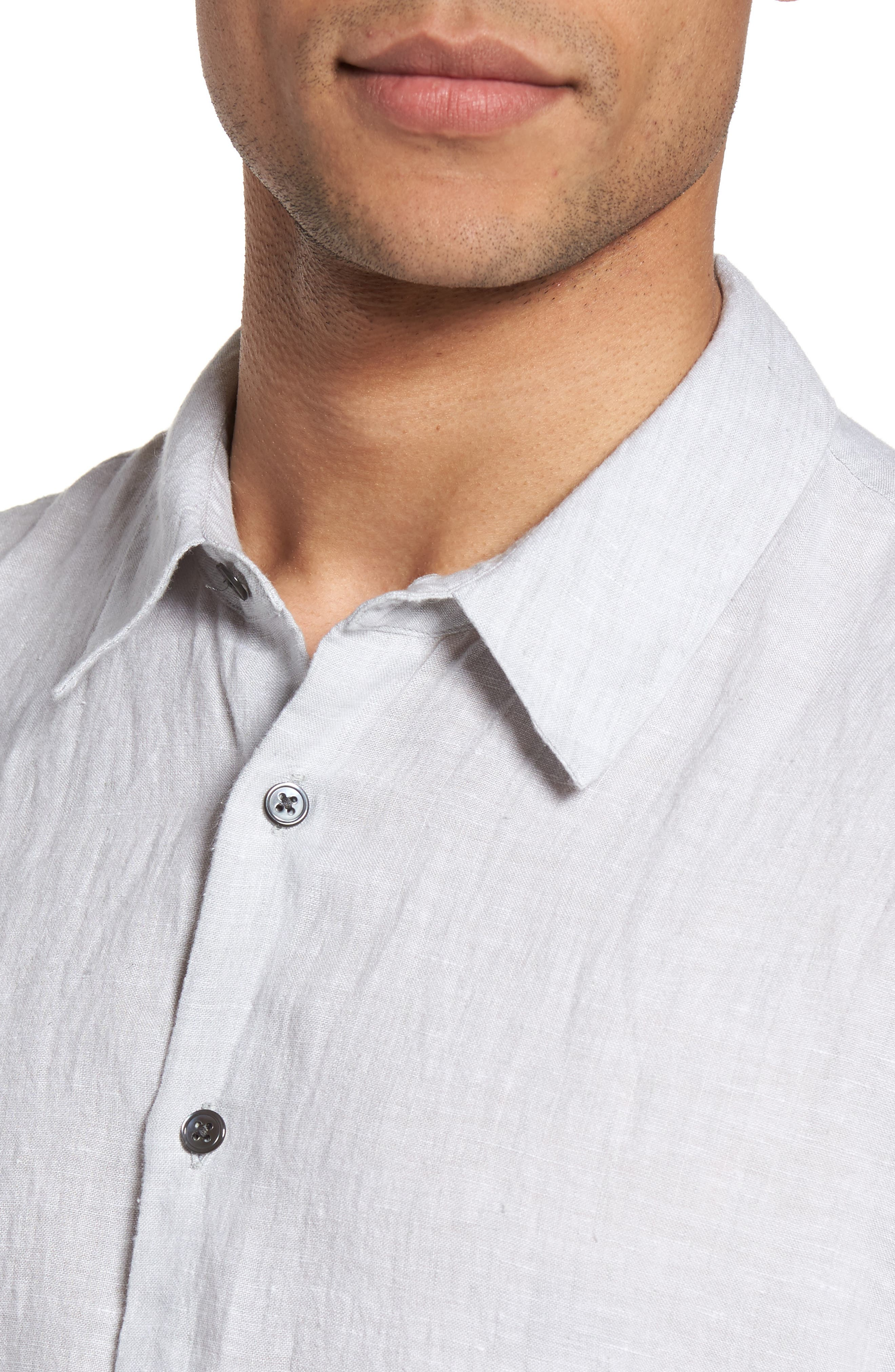 Slim Fit Linen Sport Shirt,                             Alternate thumbnail 11, color,