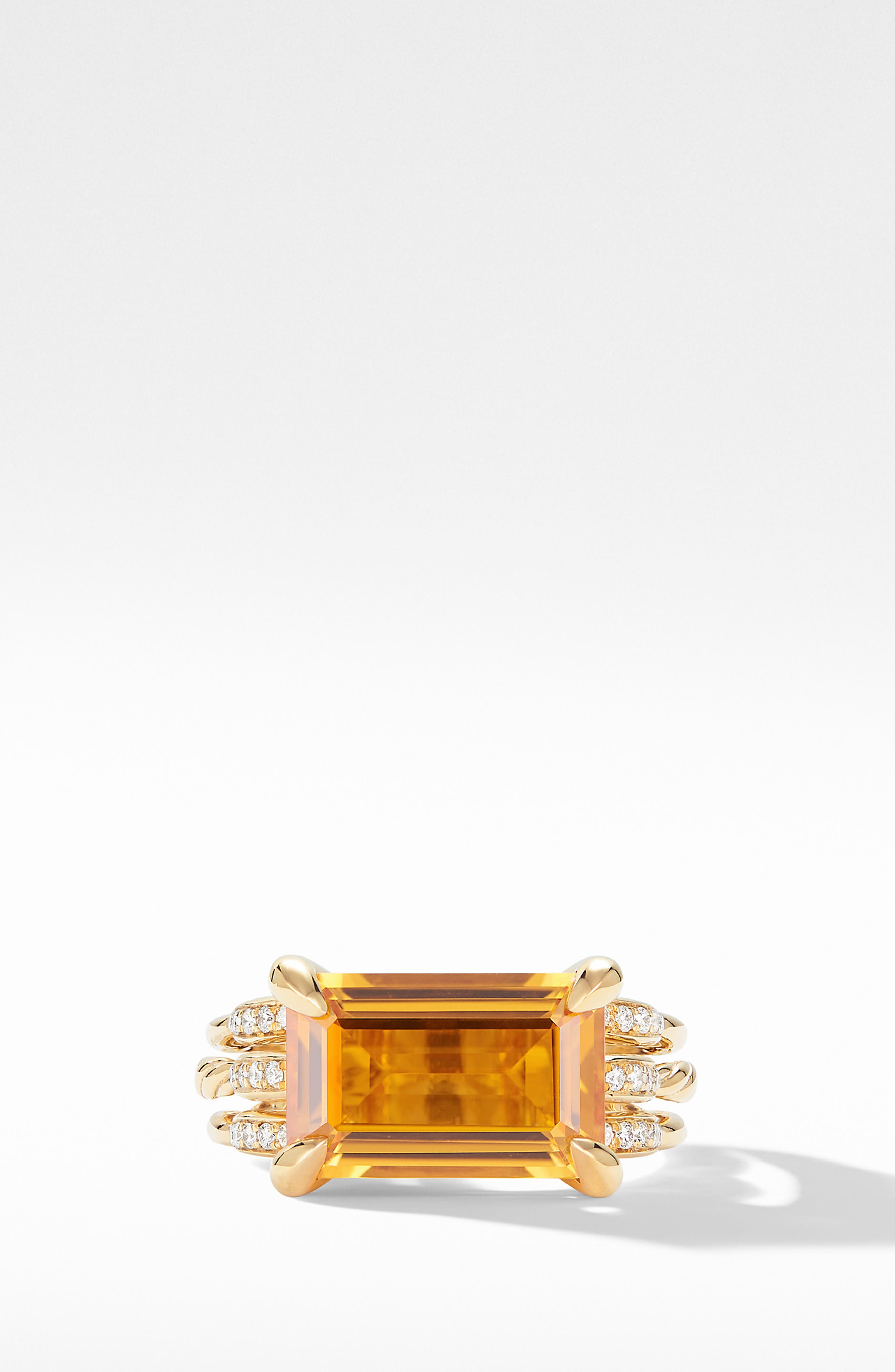 Tides Ring in 18k Gold with Diamonds,                             Alternate thumbnail 3, color,                             GOLD/ CITRINE