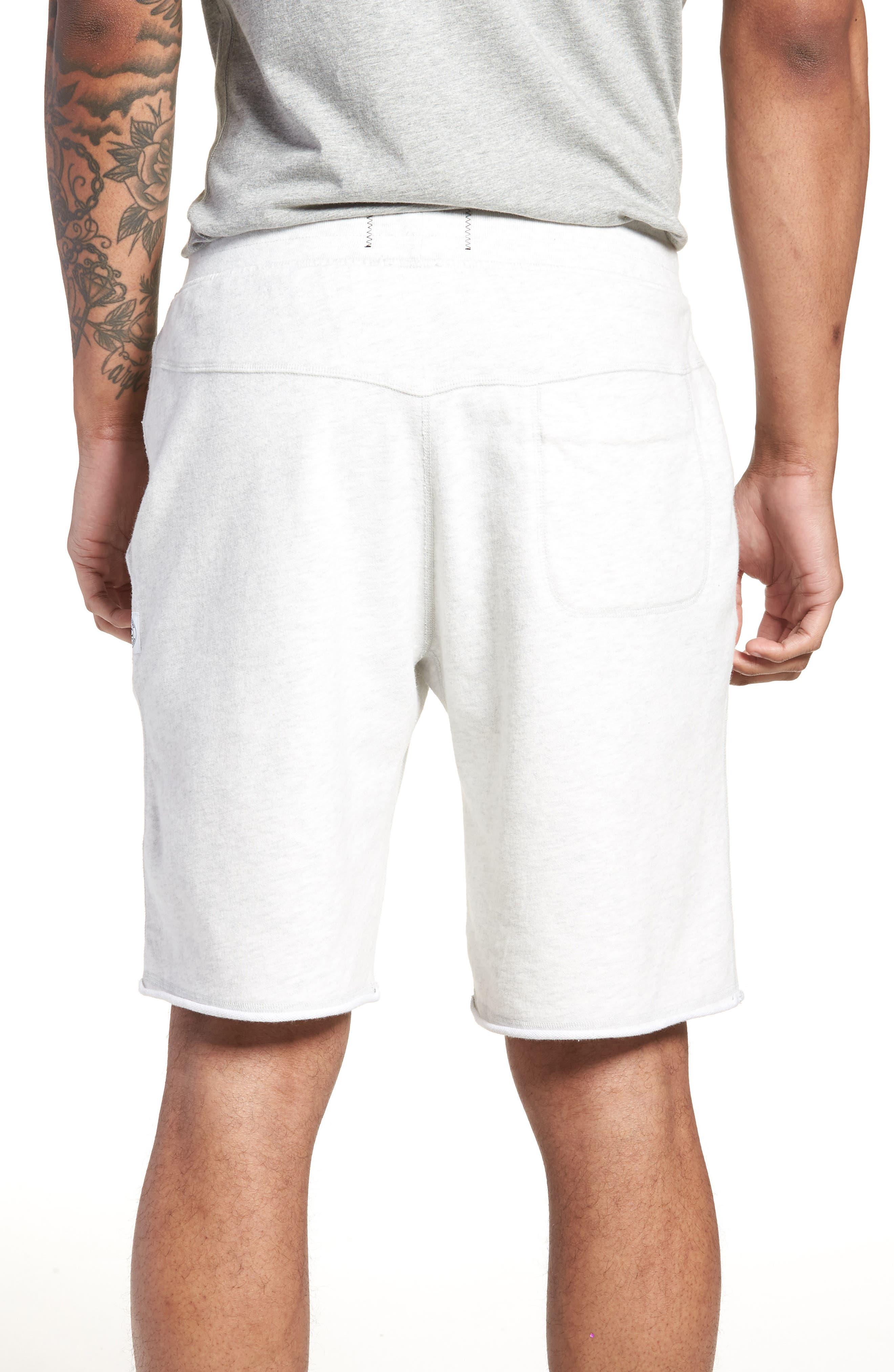 Raw Edge Drawstring Shorts,                             Alternate thumbnail 2, color,                             100