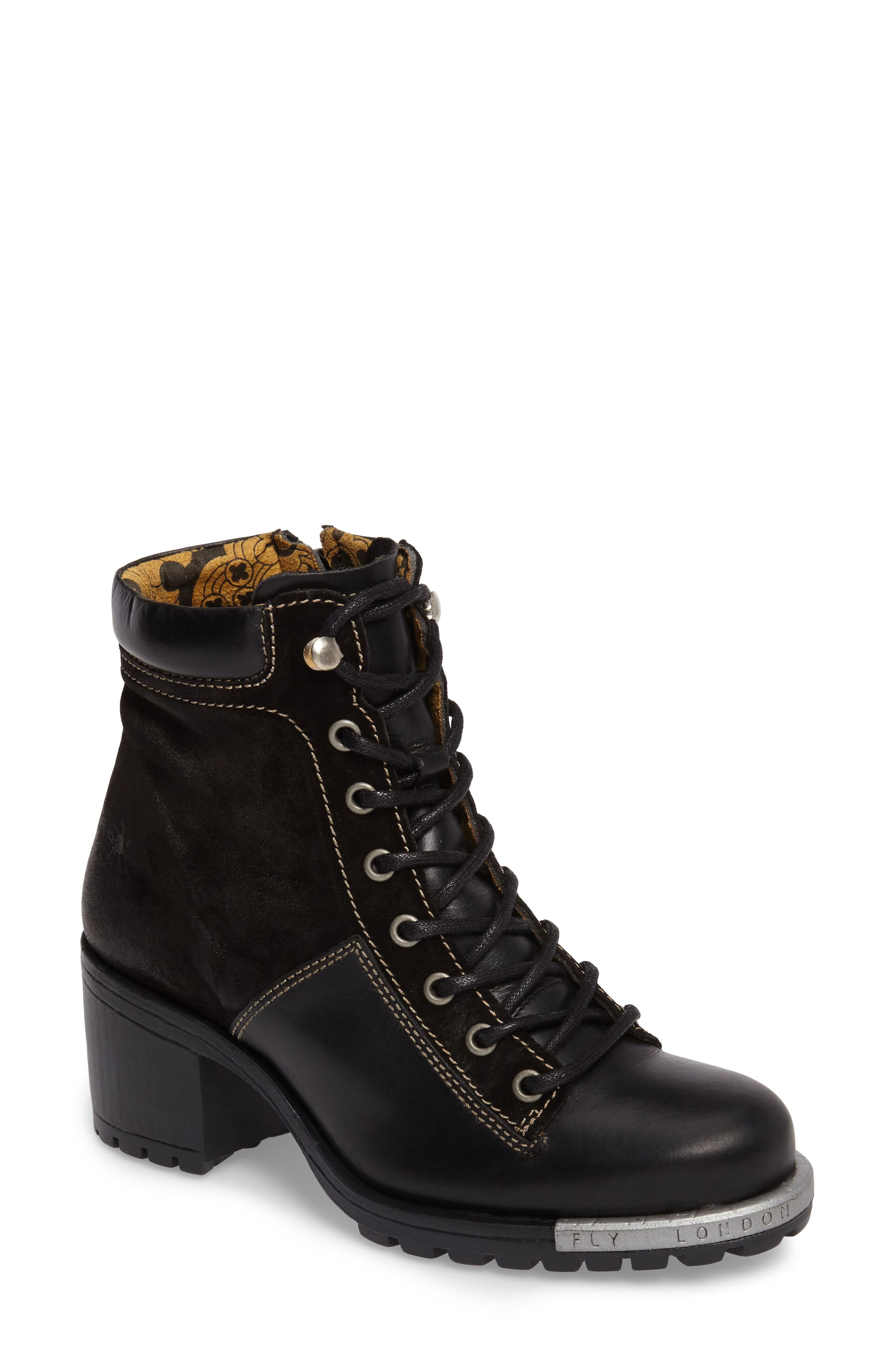 FLY LONDON,                             'Leal' Boot,                             Main thumbnail 1, color,                             005