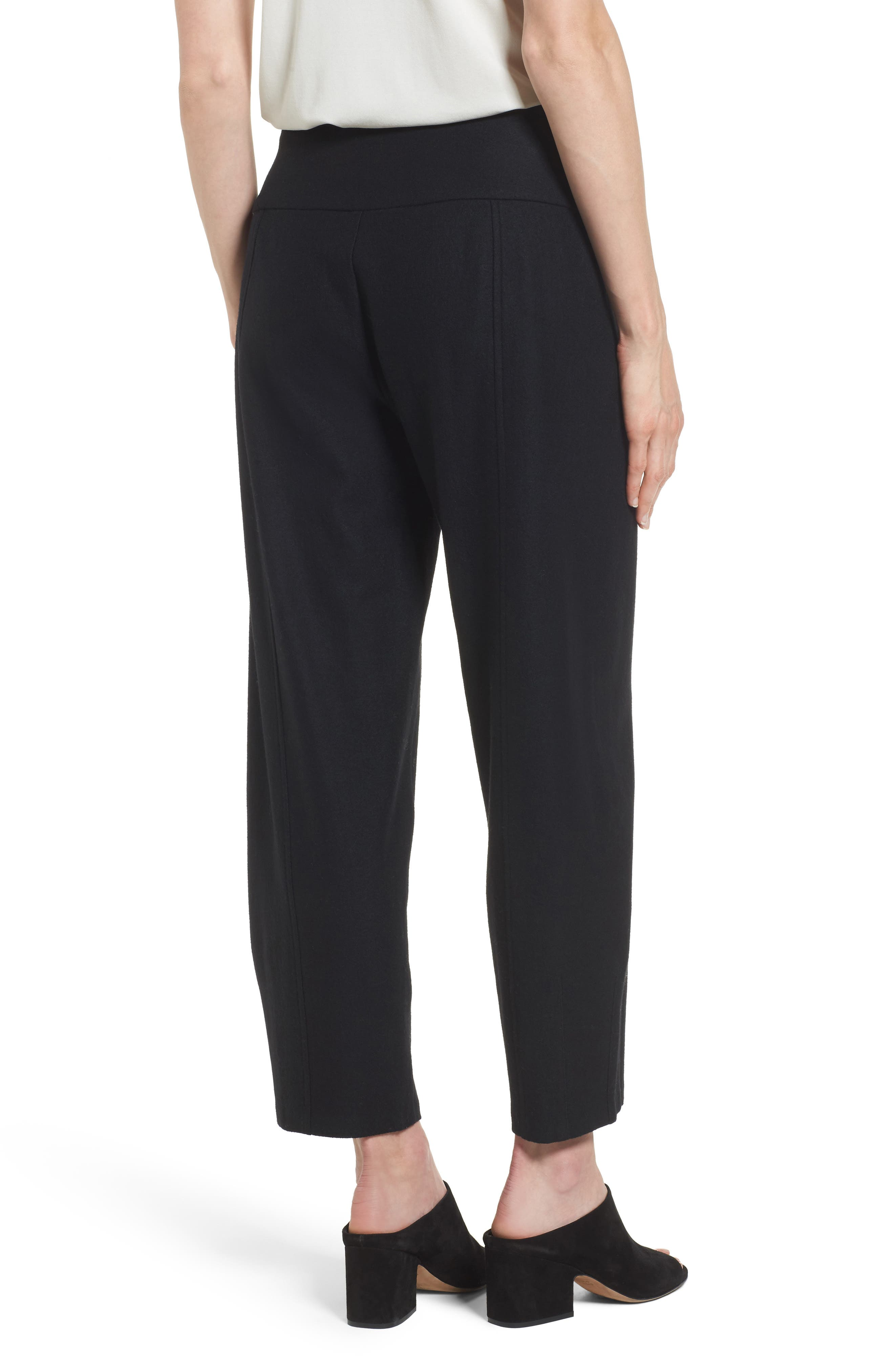 Wool Ankle Pants,                             Alternate thumbnail 2, color,                             001