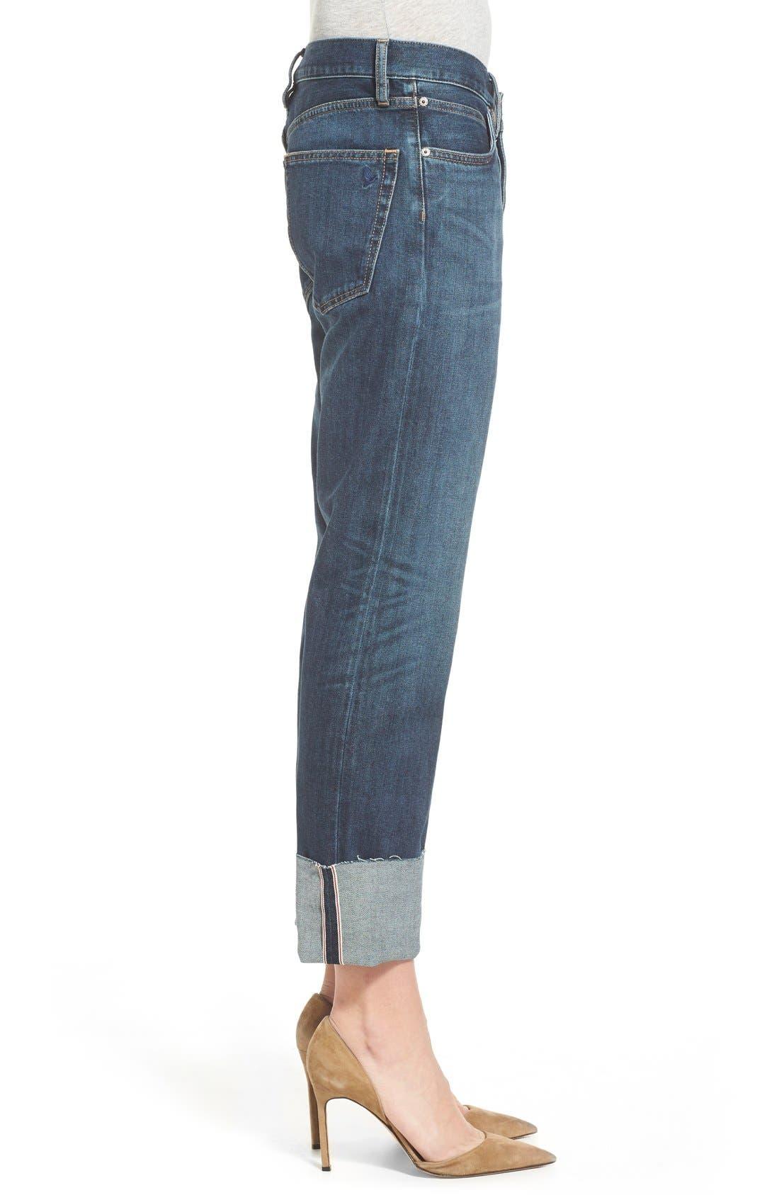 'Phoebe' Boyfriend Jeans,                             Alternate thumbnail 3, color,                             460