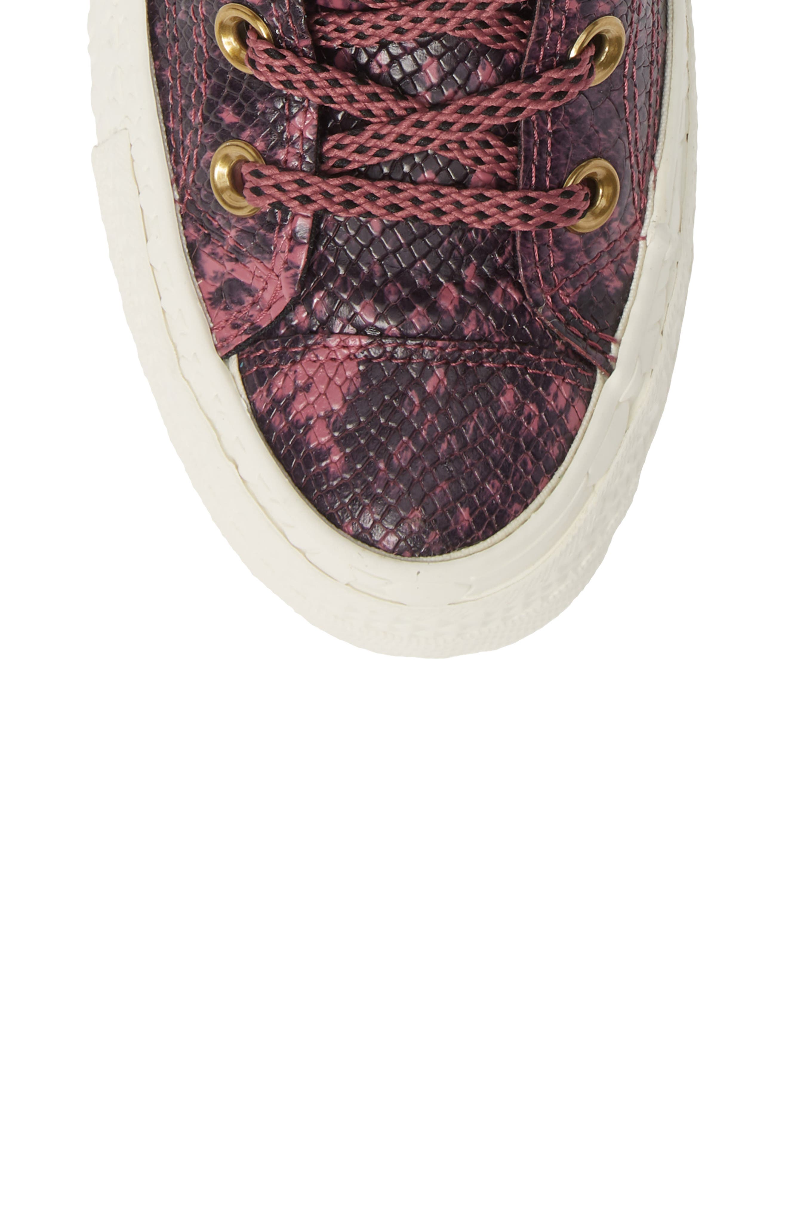 Chuck Taylor<sup>®</sup> All Star<sup>®</sup> CT 70 Reptile High Top Sneaker,                             Alternate thumbnail 5, color,                             VINTAGE WINE LEATHER