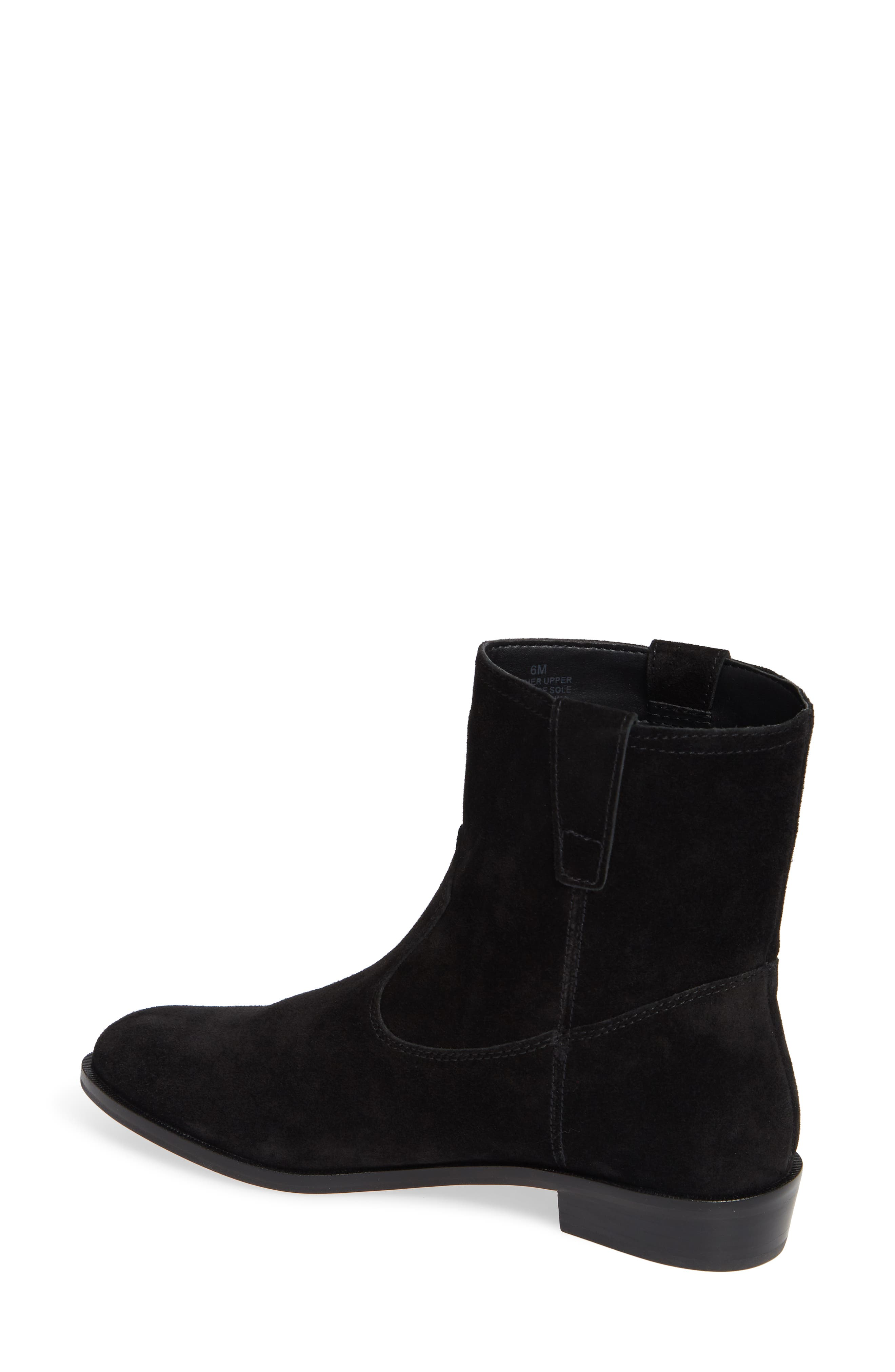 Chasidy Bootie,                             Alternate thumbnail 2, color,                             BLACK SUEDE