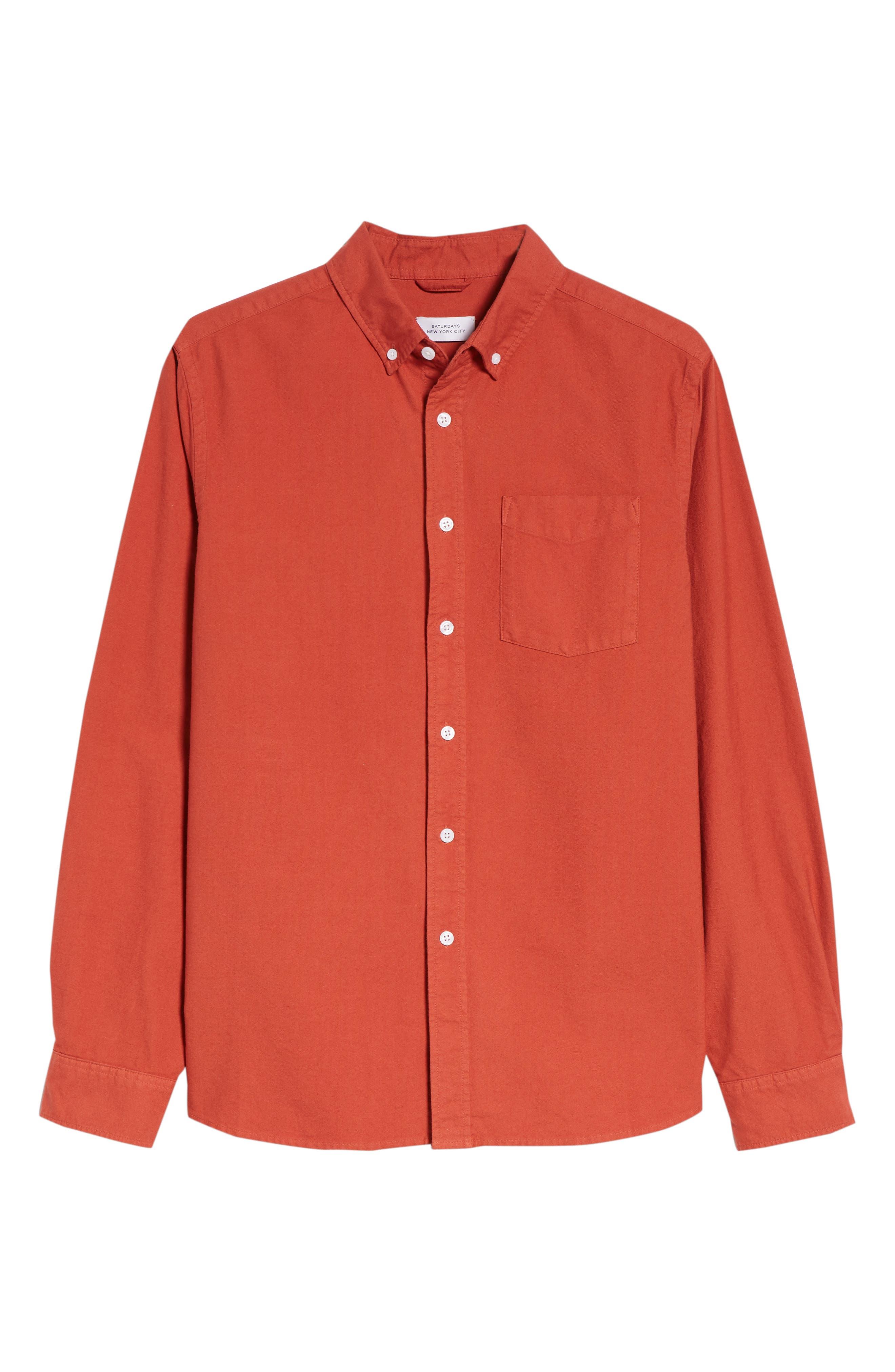 Crosby Oxford Woven Shirt,                             Alternate thumbnail 6, color,                             600
