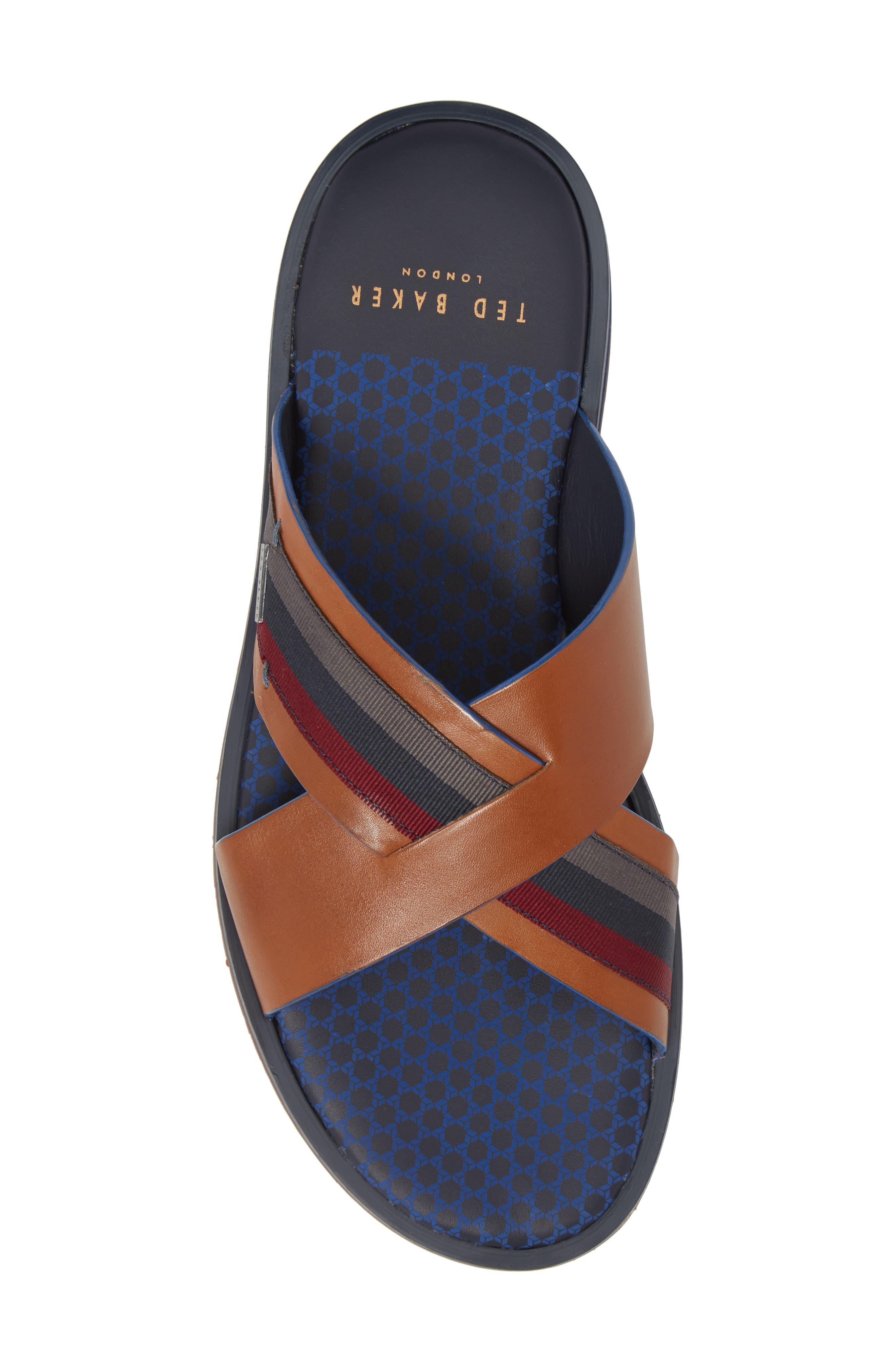 Farrull Cross Strap Slide Sandal,                             Alternate thumbnail 5, color,                             204