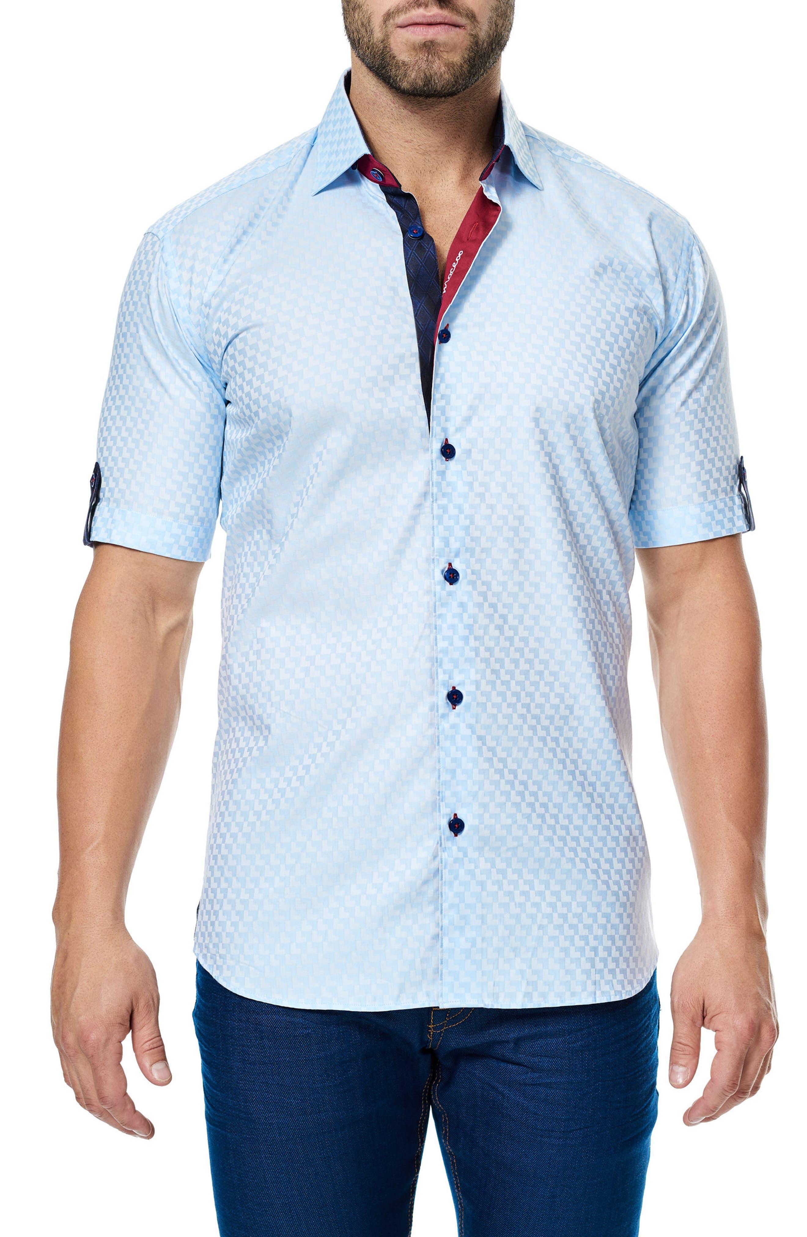 Fresh Jacquard Sport Shirt,                             Main thumbnail 1, color,                             450