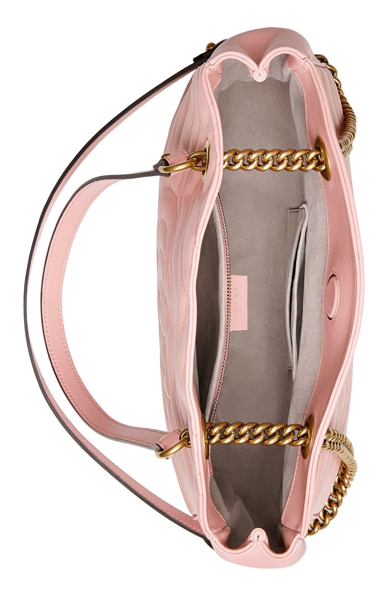 GG Marmont Matelassé Leather Shoulder Bag,                             Alternate thumbnail 6, color,