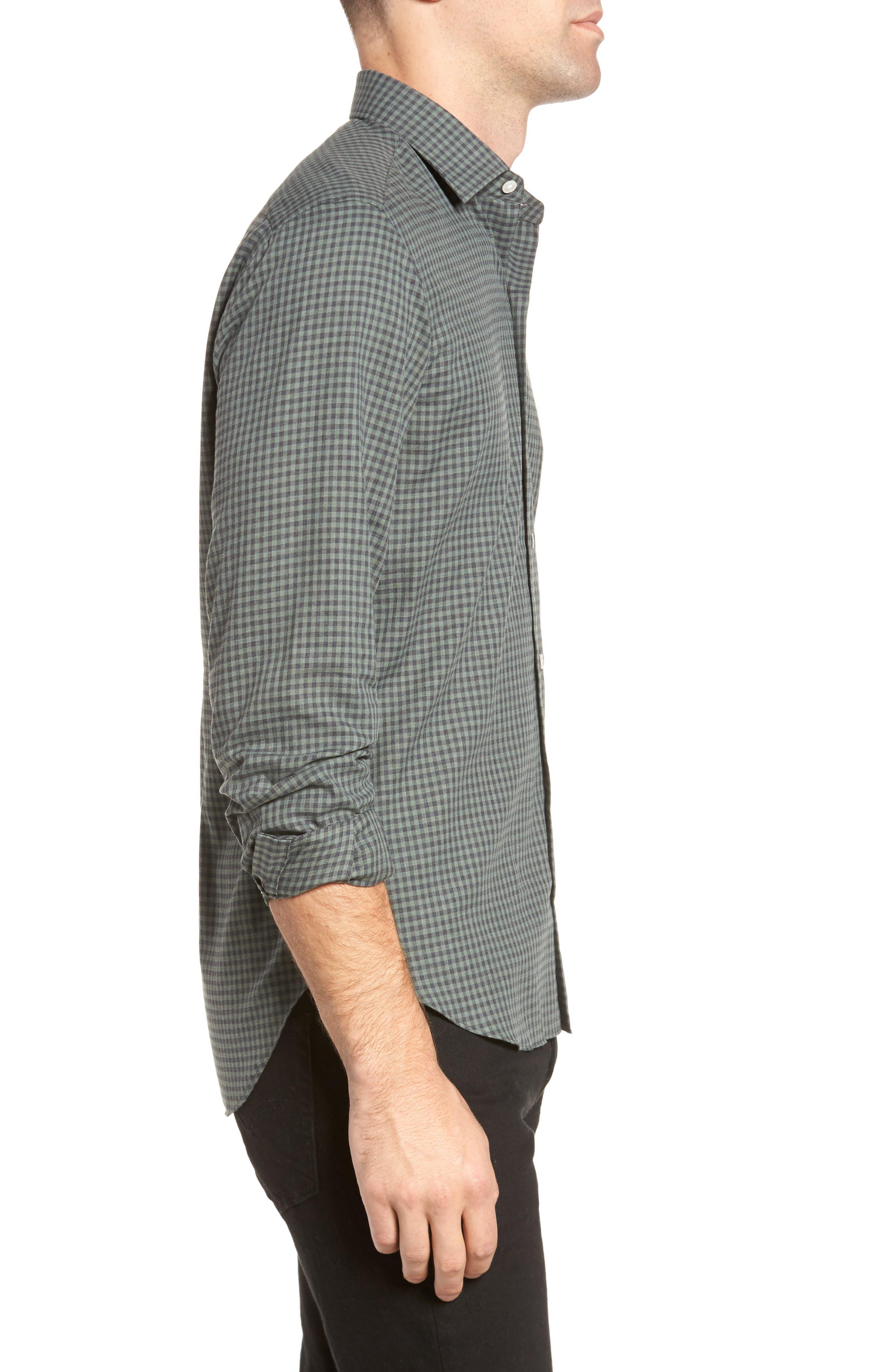 Gingham Sport Shirt,                             Alternate thumbnail 3, color,
