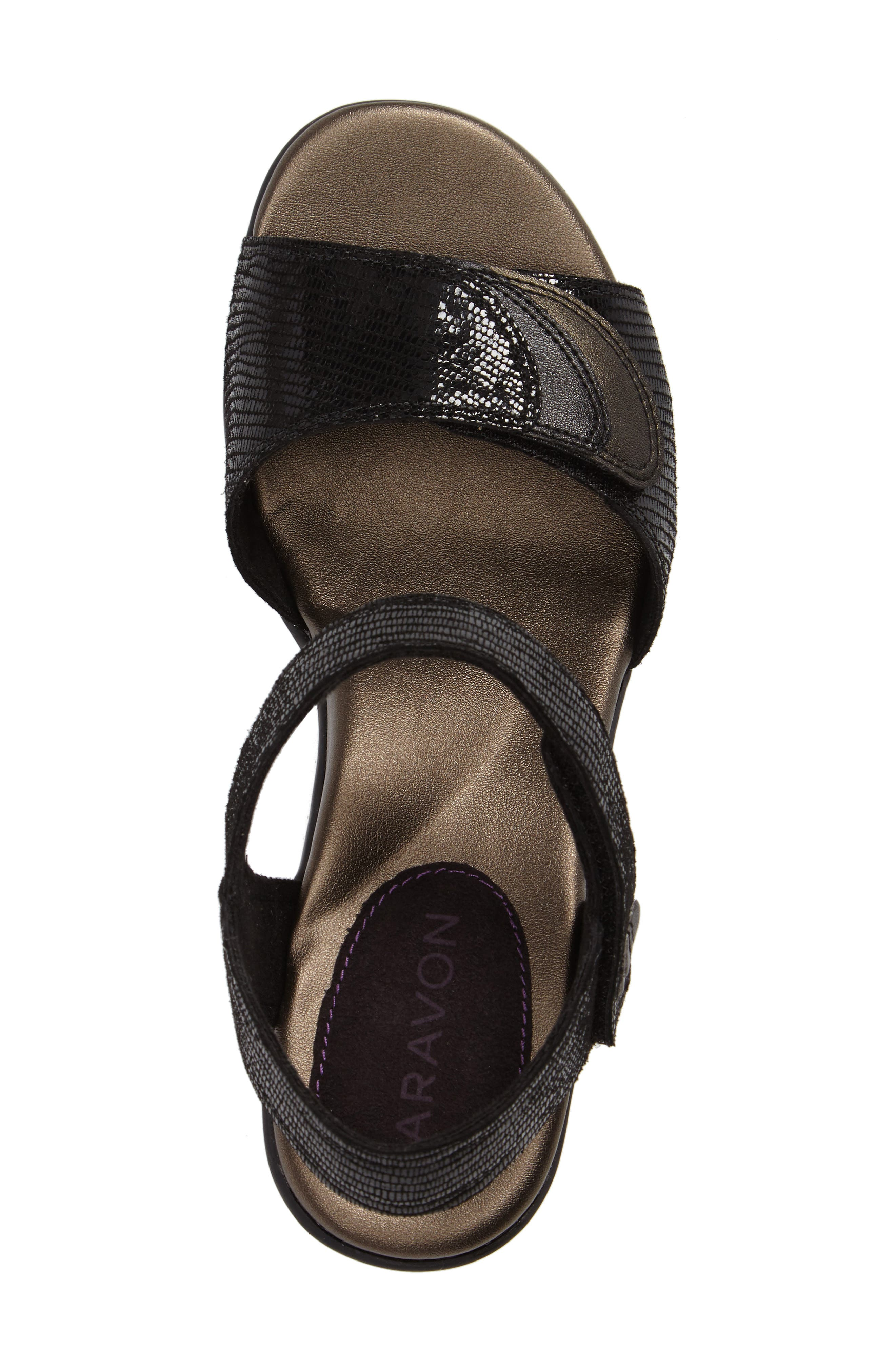 Medici Sandal,                             Alternate thumbnail 5, color,                             BLACK FABRIC