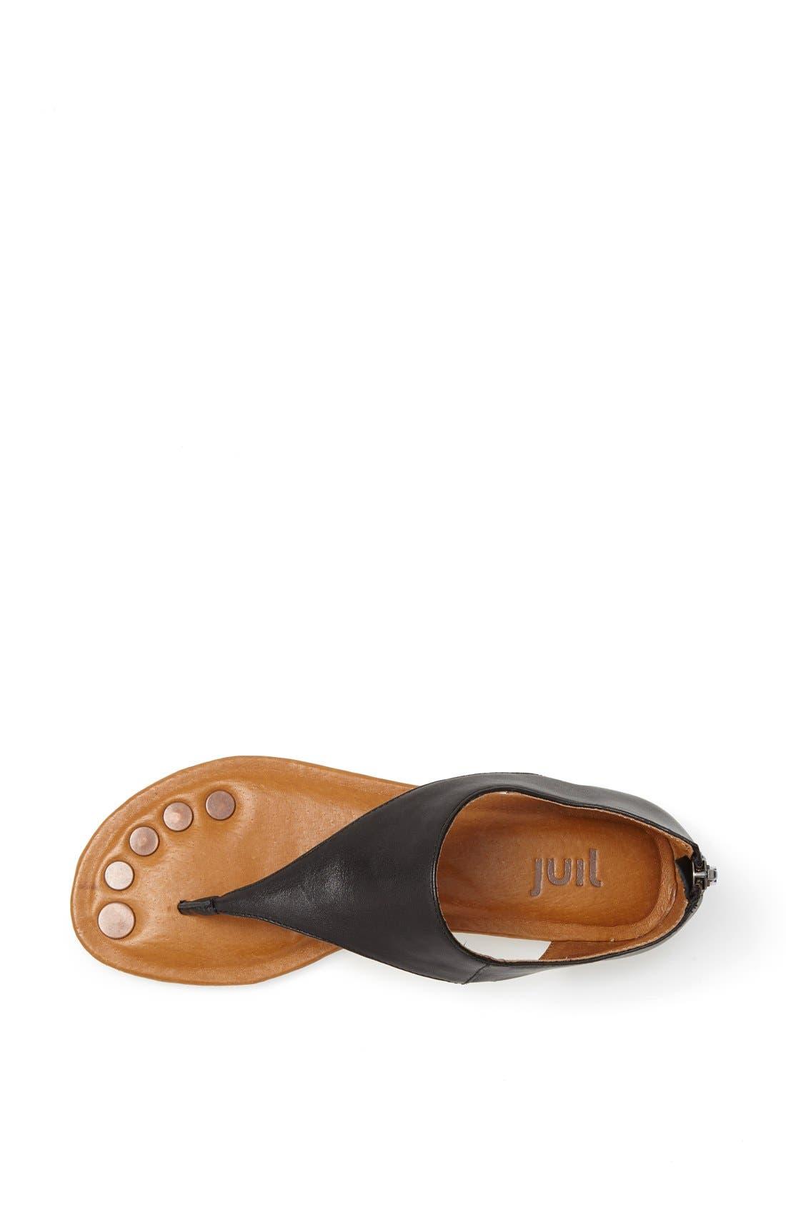 'Luna' Metallic Leather Thong Sandal,                             Alternate thumbnail 4, color,                             010