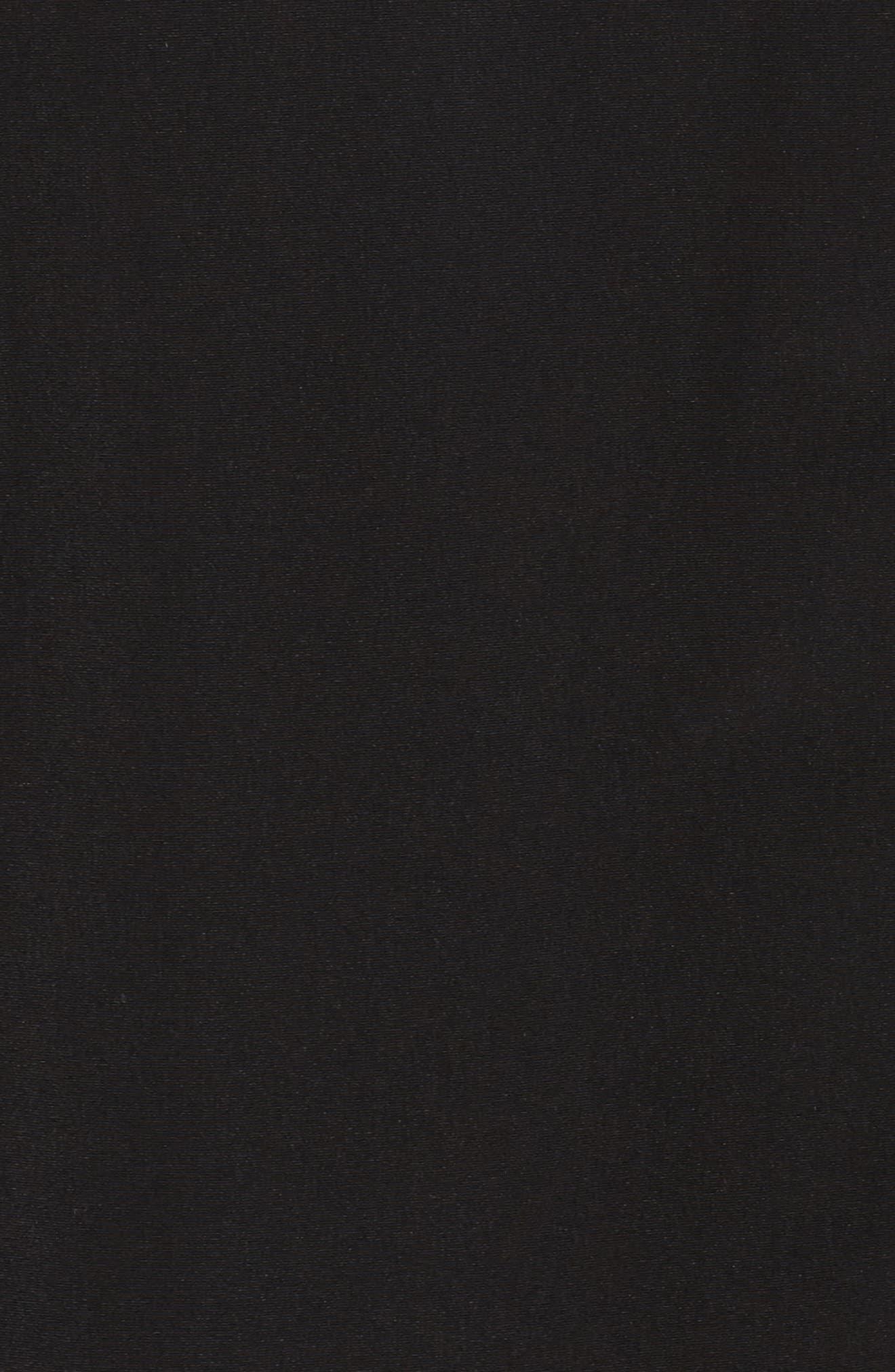 Two-Tone Long Silk Look Raincoat,                             Alternate thumbnail 7, color,                             BLACK