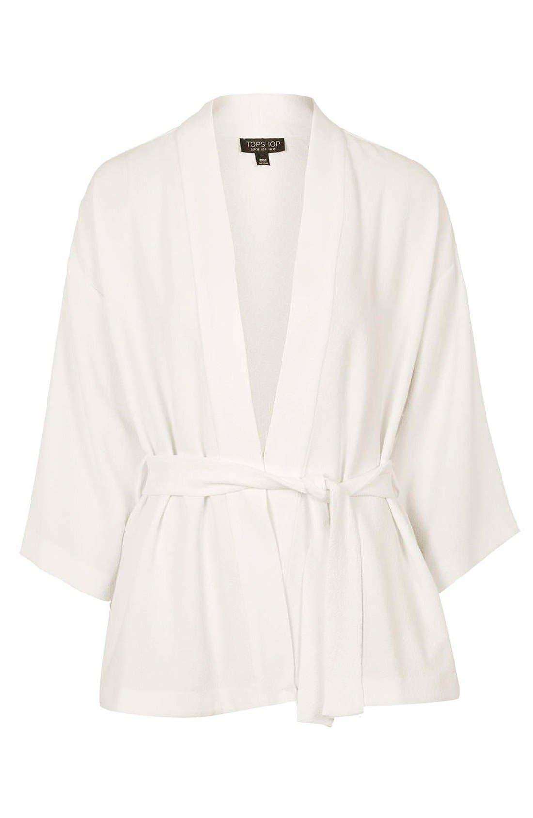 Belted Kimono Jacket,                             Alternate thumbnail 4, color,                             900