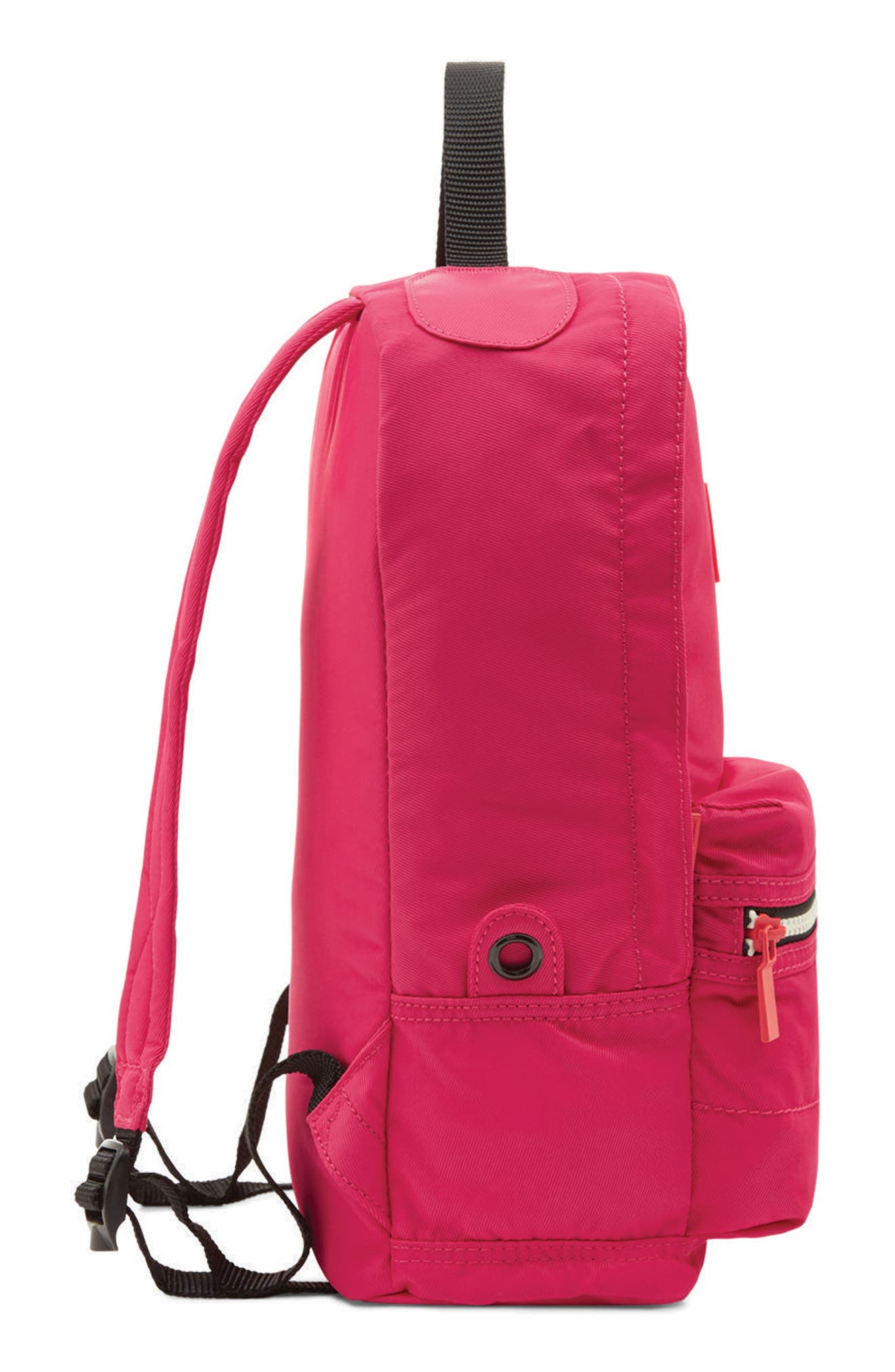 Original Water Resistant Nylon Backpack,                             Alternate thumbnail 3, color,                             BRIGHT PINK