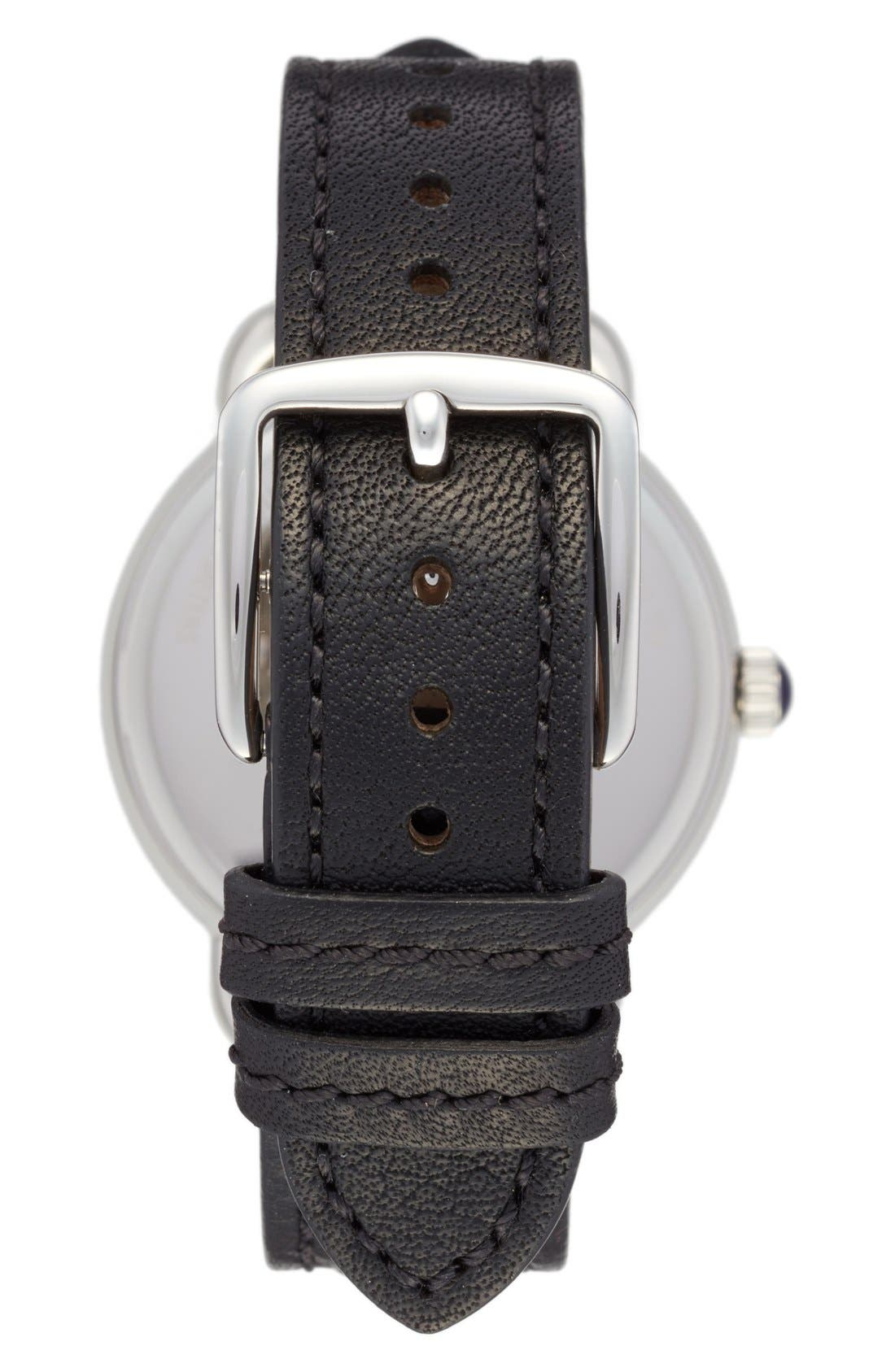 Delancey Leather Strap Watch, 36mm,                             Alternate thumbnail 4, color,                             001