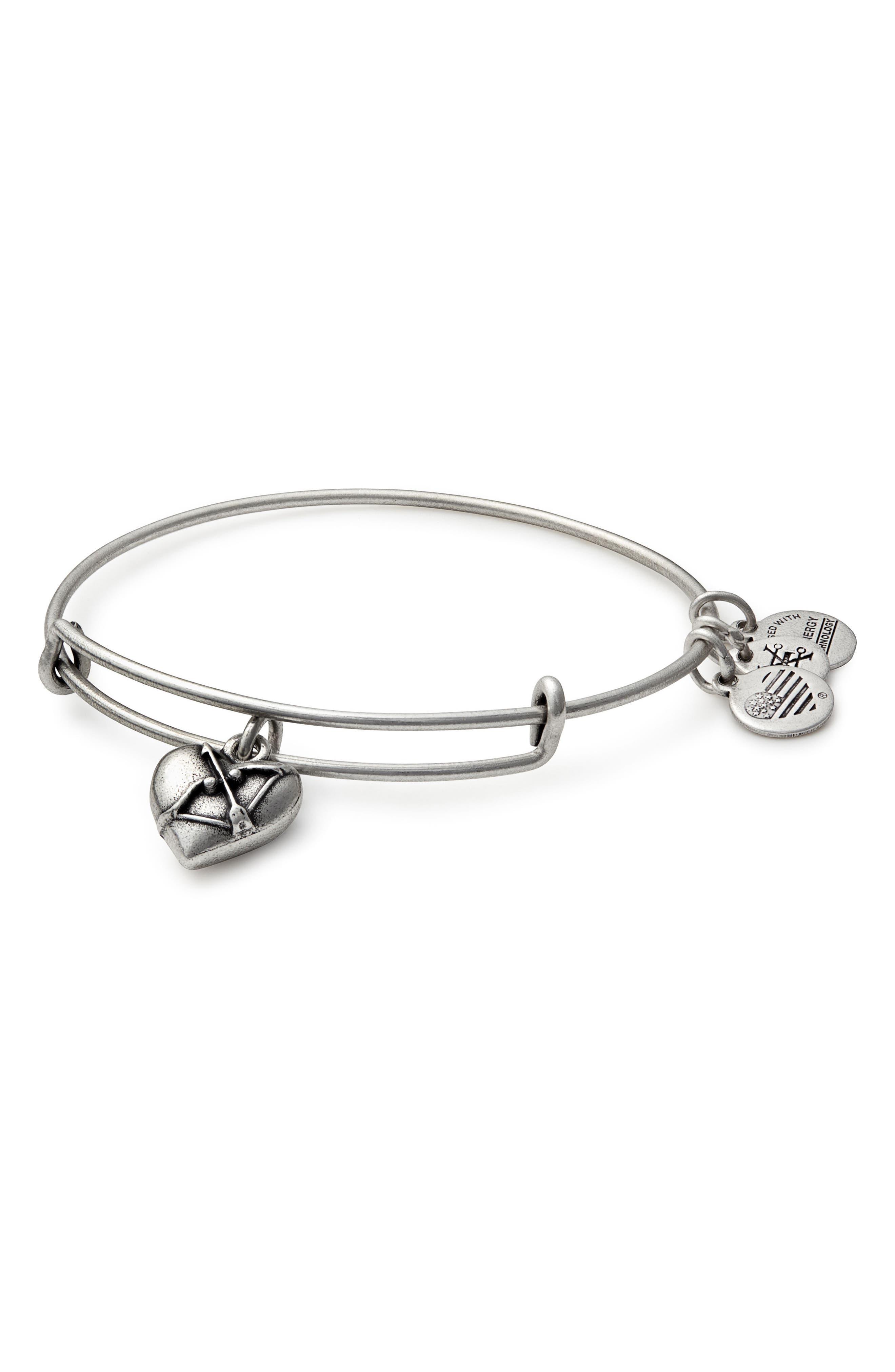 Cupid's Heart Expandable Charm Bracelet,                             Main thumbnail 1, color,                             040