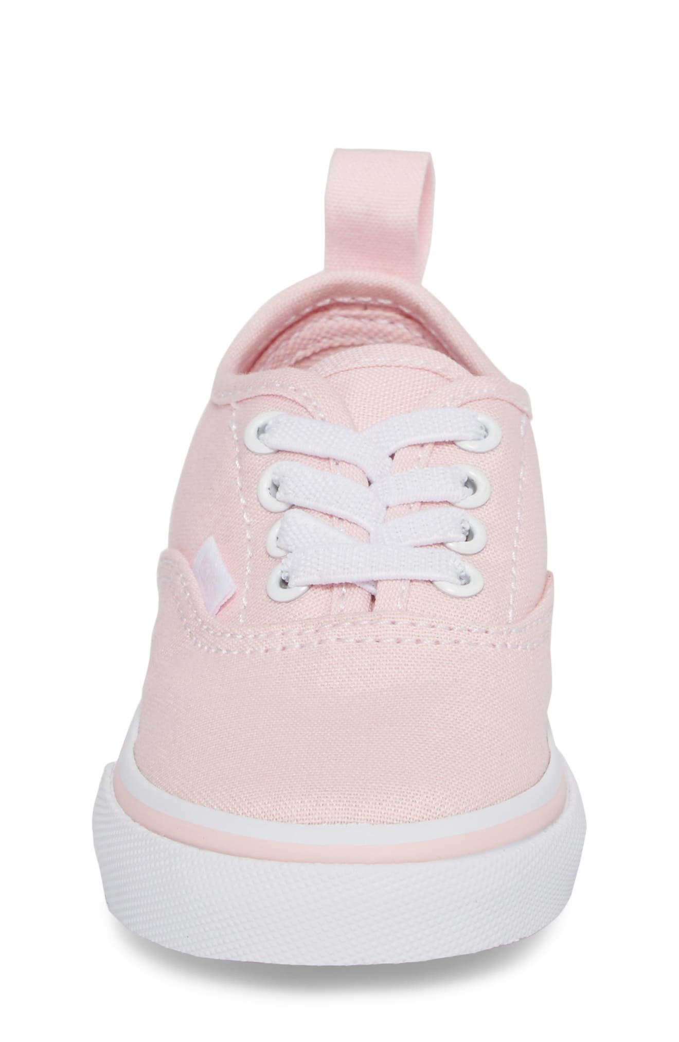 Authentic Elastic Lace Sneaker,                             Alternate thumbnail 4, color,                             CHALK PINK/ TRUE WHITE