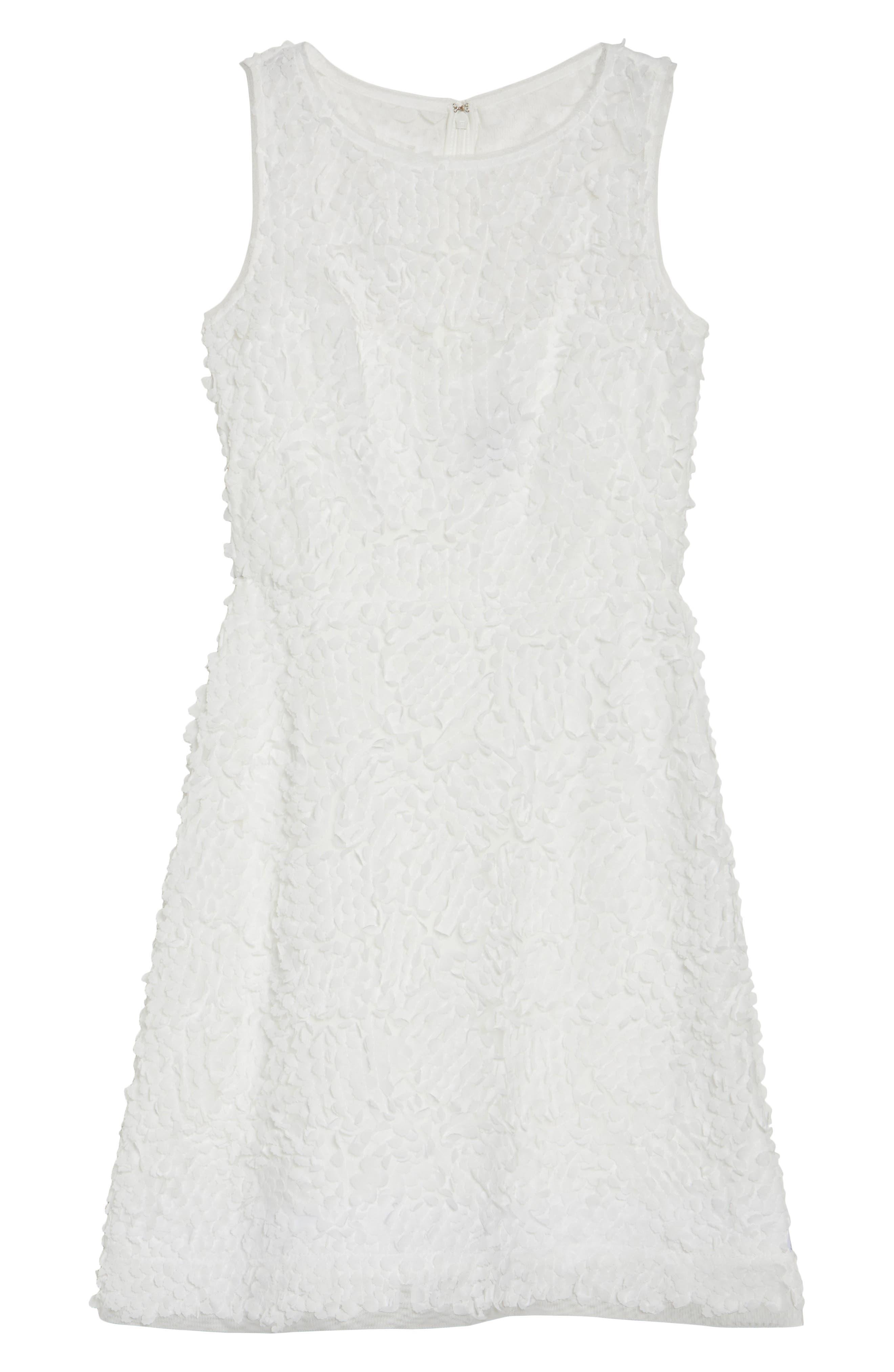 Sleeveless Petal Dress,                             Alternate thumbnail 6, color,                             100