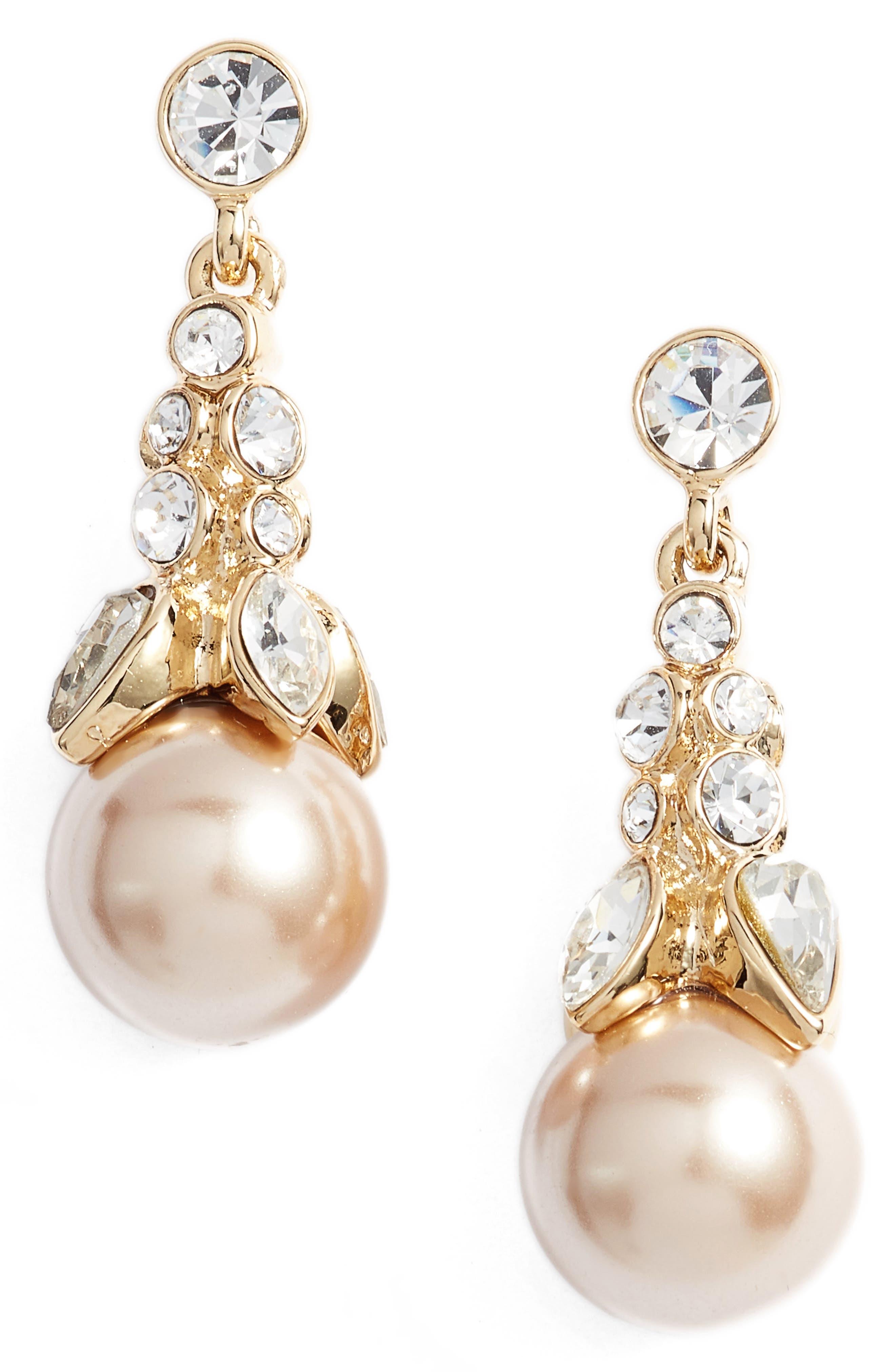 Crystal Drop Earrings,                             Main thumbnail 2, color,