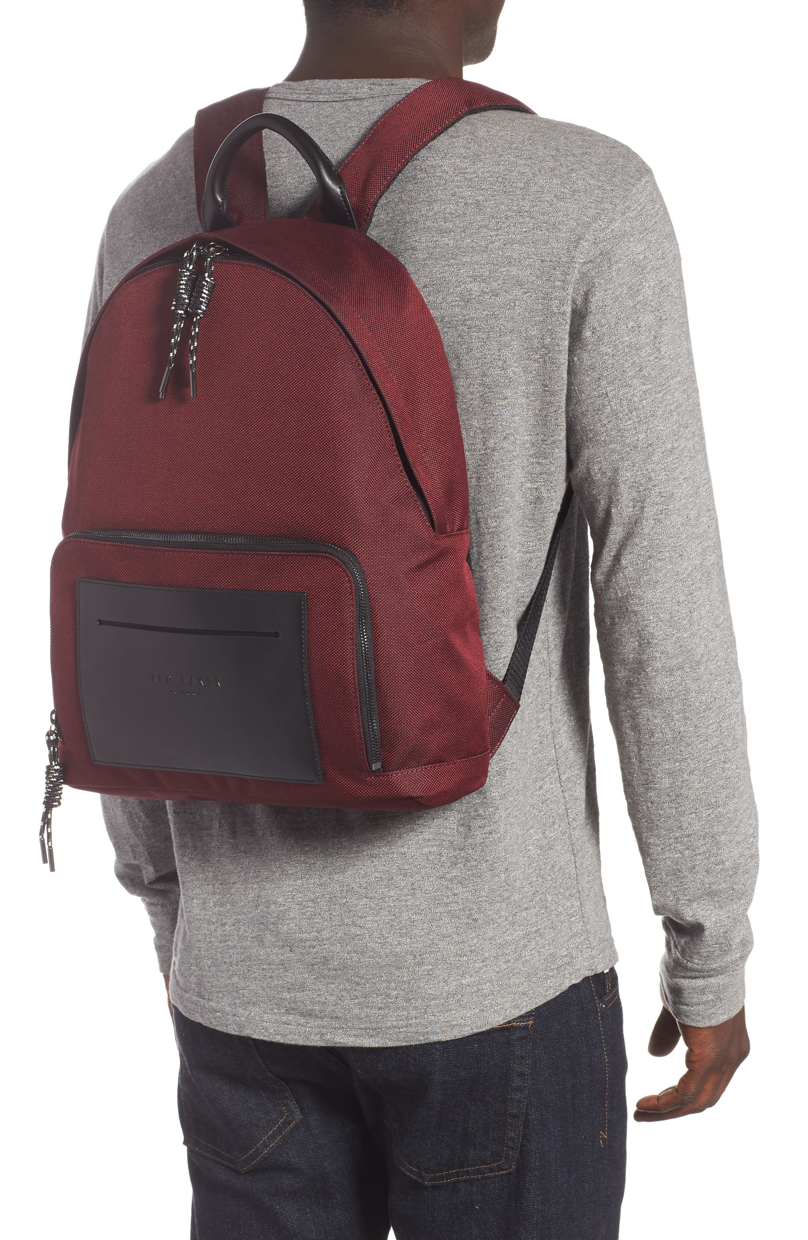 Filer Backpack,                             Alternate thumbnail 2, color,                             RED
