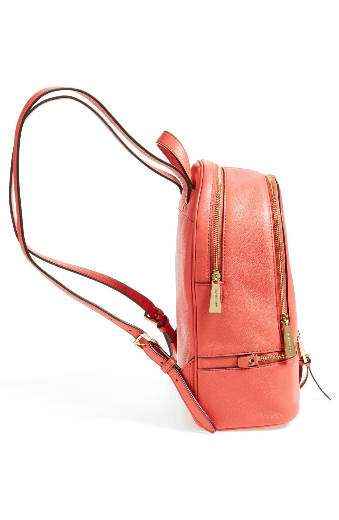'Extra Small Rhea Zip' Leather Backpack,                             Alternate thumbnail 45, color,