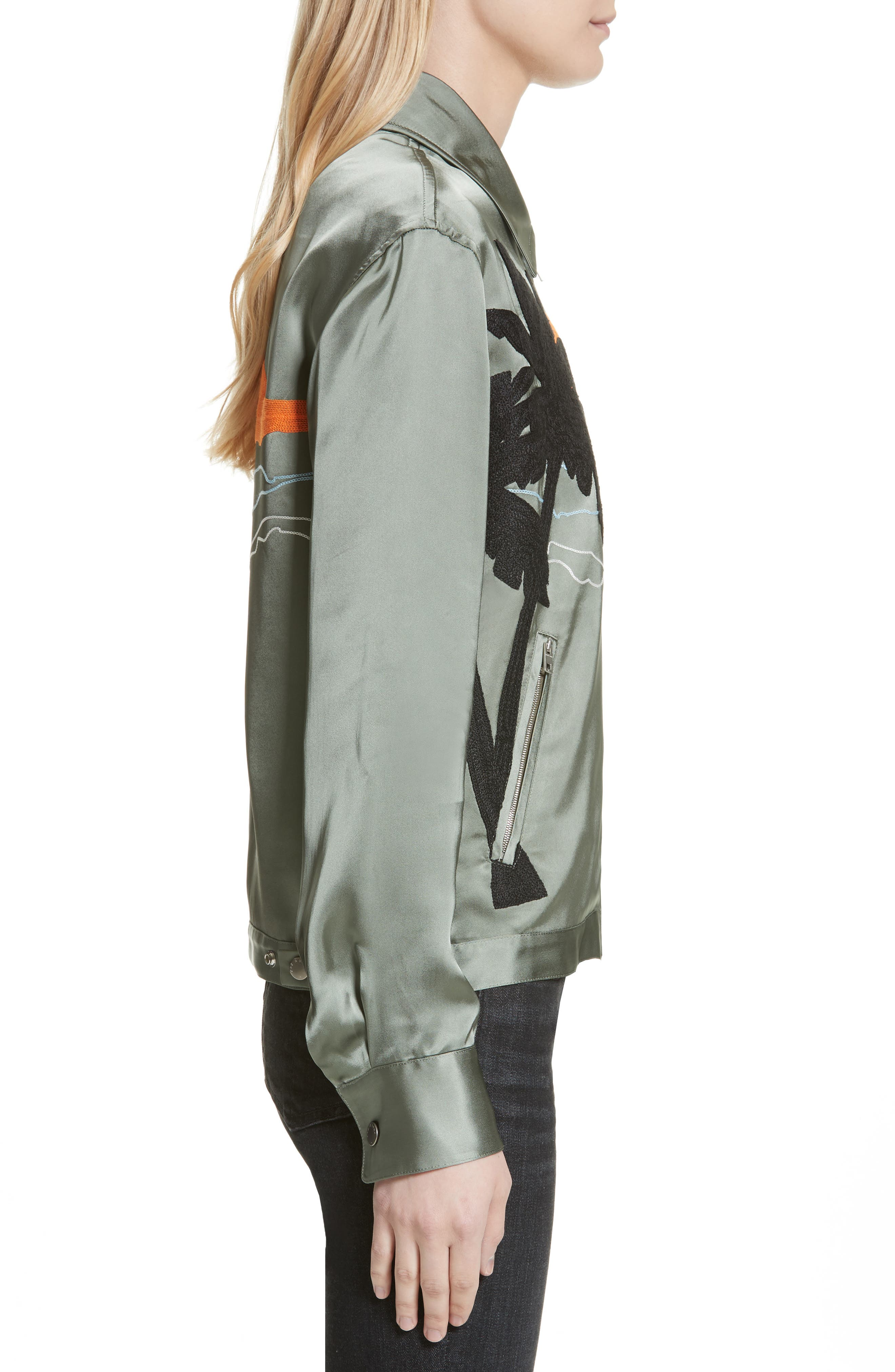 Roth Embroidered Satin Jacket,                             Alternate thumbnail 3, color,