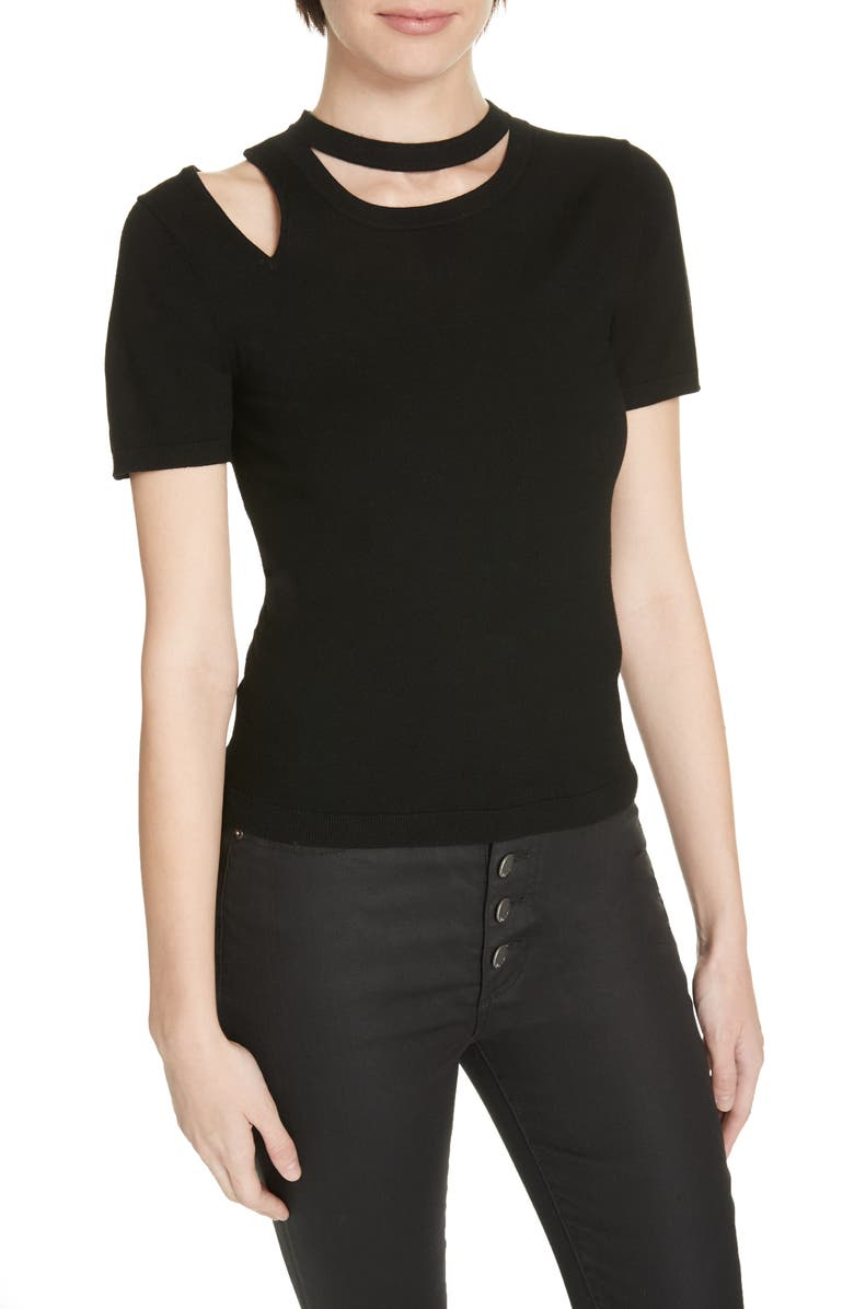 Alice And Olivia Sweaters ROSLYN CUTOUT FITTED SWEATER