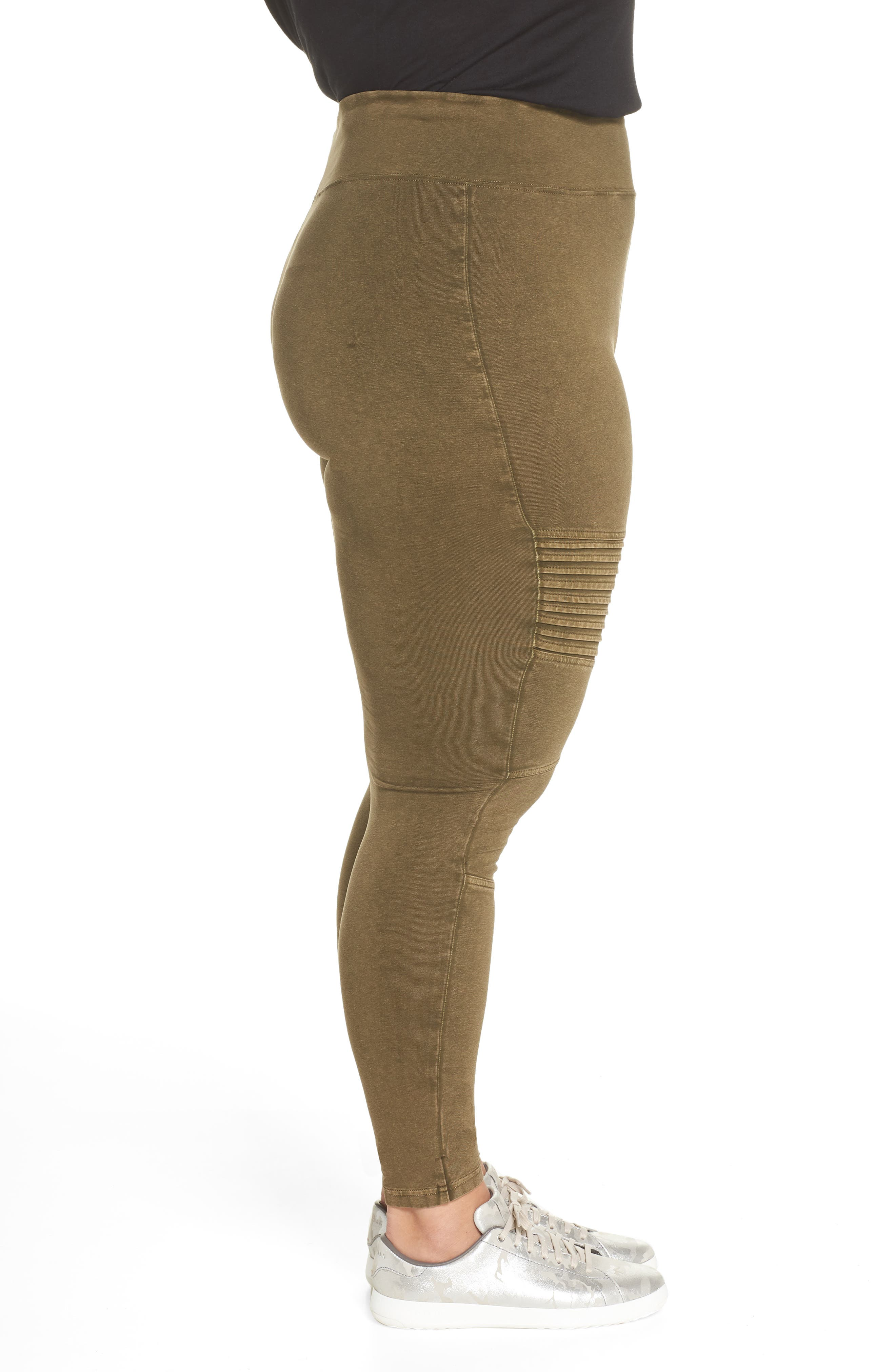 Washed Moto Leggings,                             Alternate thumbnail 10, color,                             OLIVE DARK