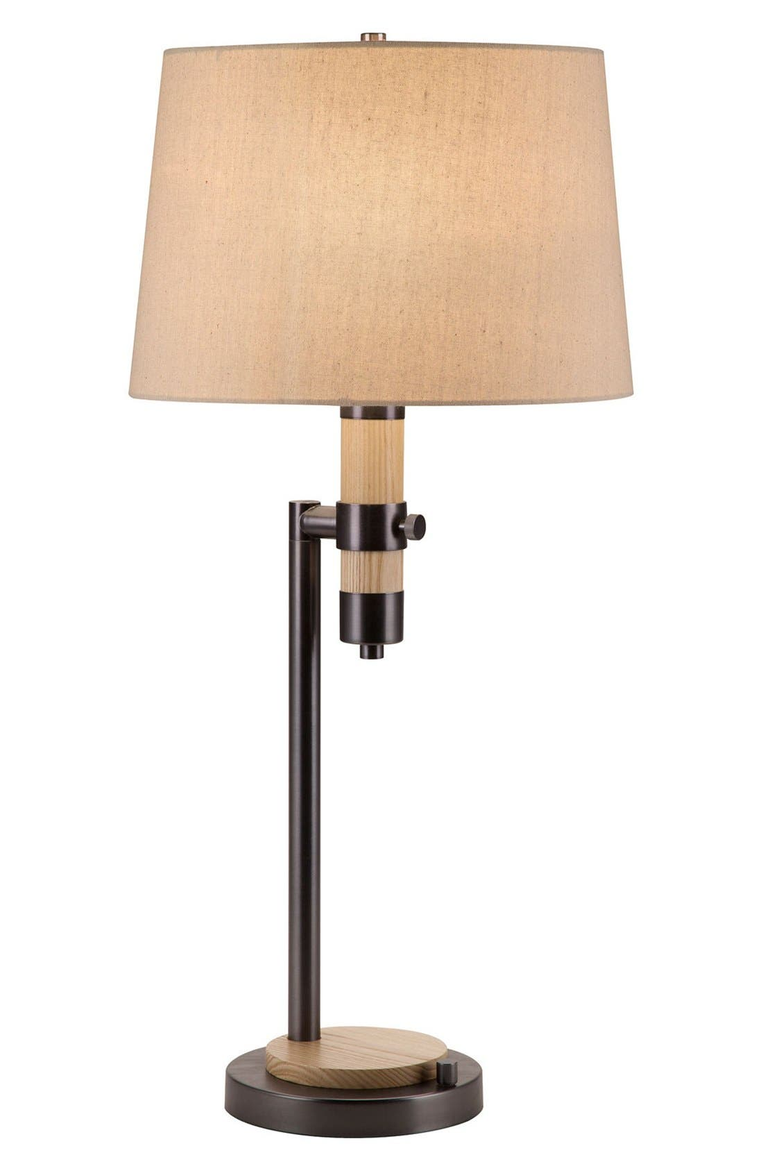 JAlexander Wood & Metal Table Lamp,                             Main thumbnail 1, color,