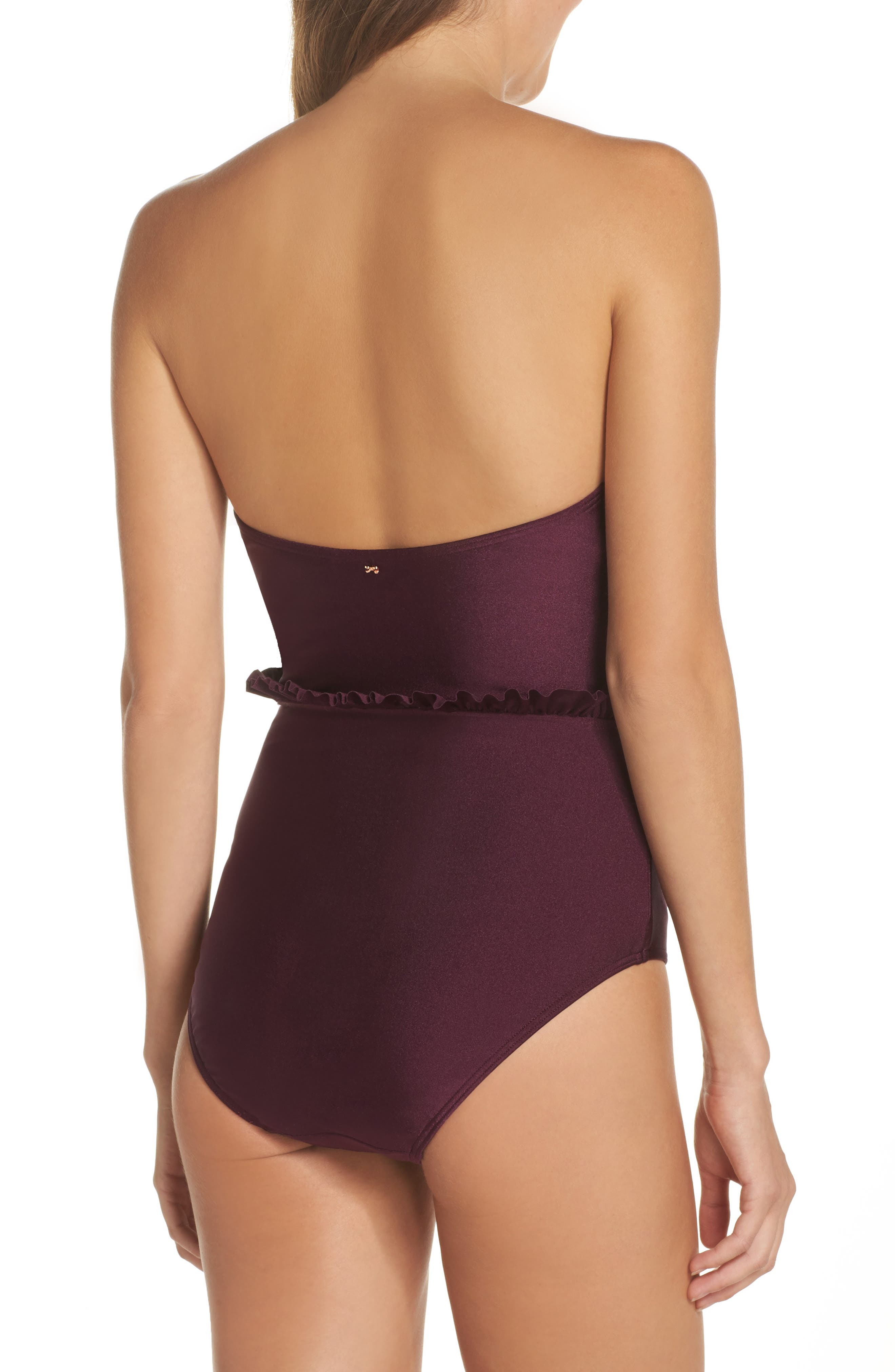 Ruffle Cupped Convertible One-Piece Swimsuit,                             Alternate thumbnail 2, color,