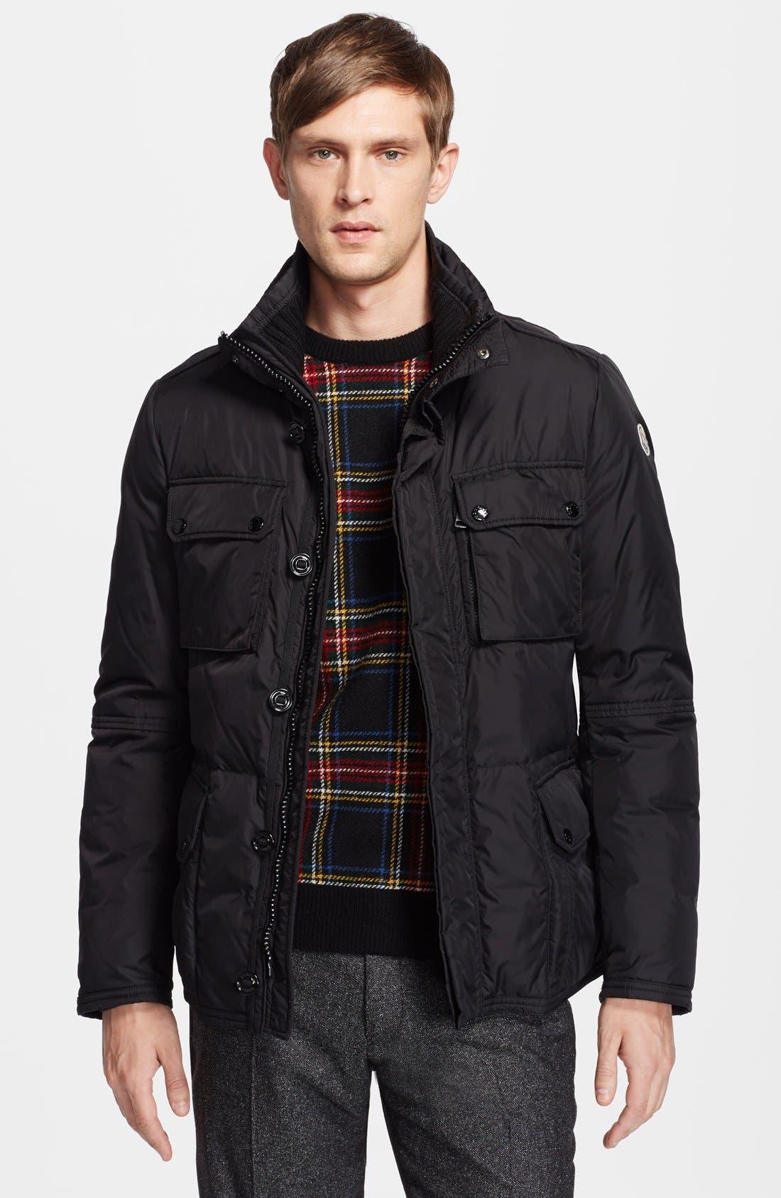 'Amazzone' Matte Down Field Jacket, Main, color, 001
