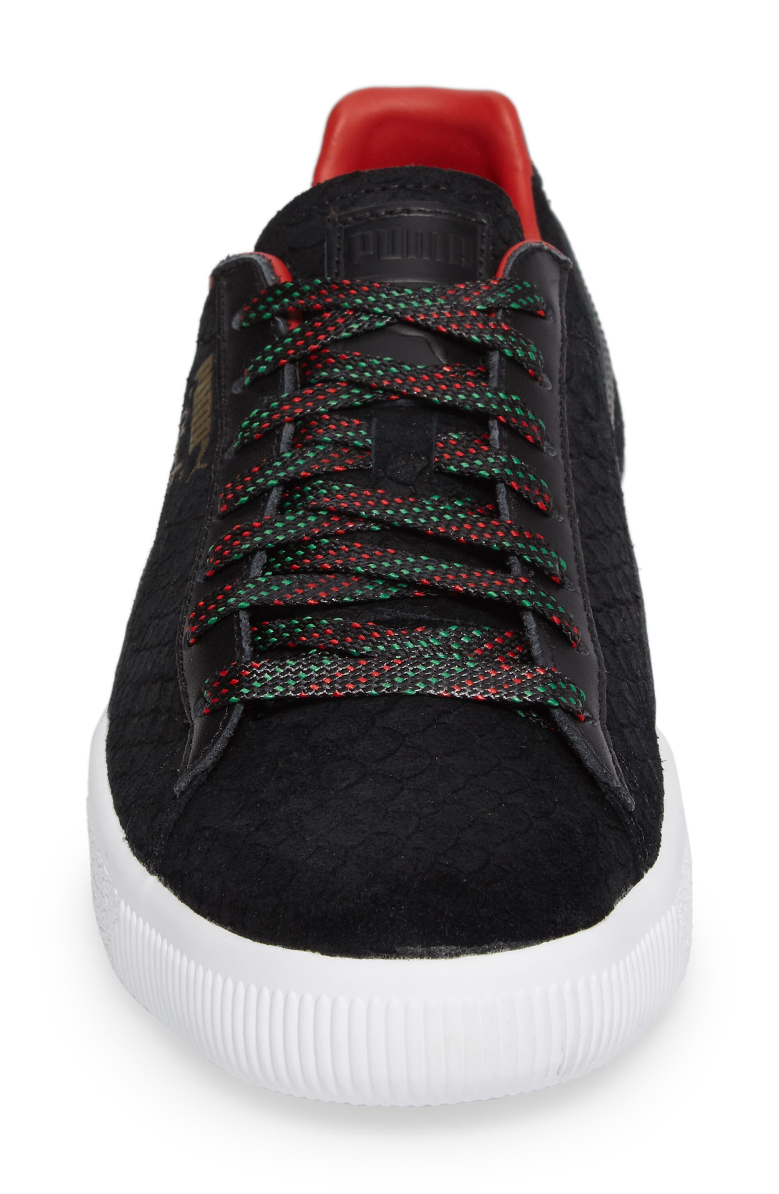Clyde GCC Sneaker,                             Alternate thumbnail 4, color,                             001