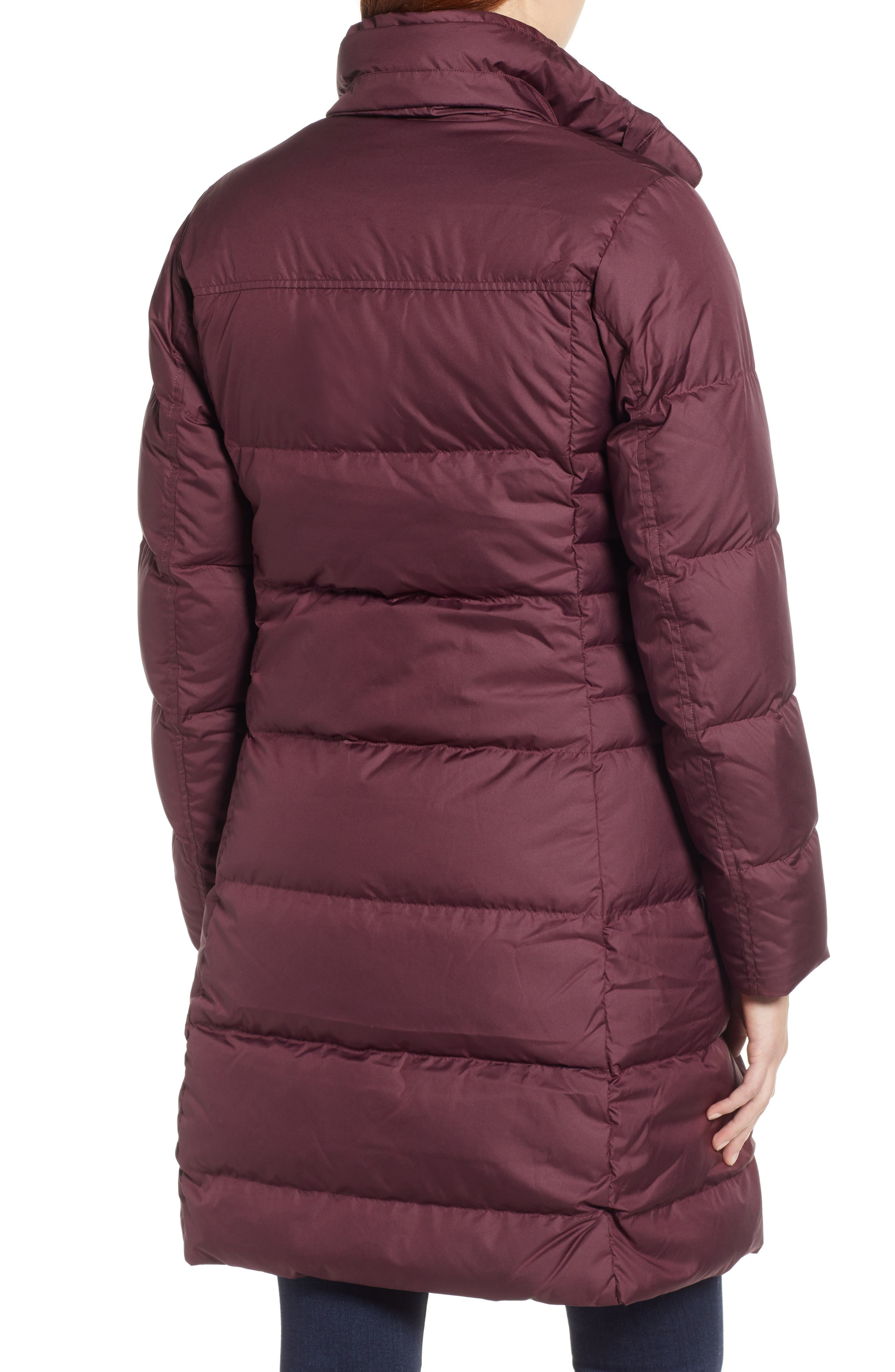 'Down with It' Water RepellentParka,                             Alternate thumbnail 2, color,                             DARK CURRANT
