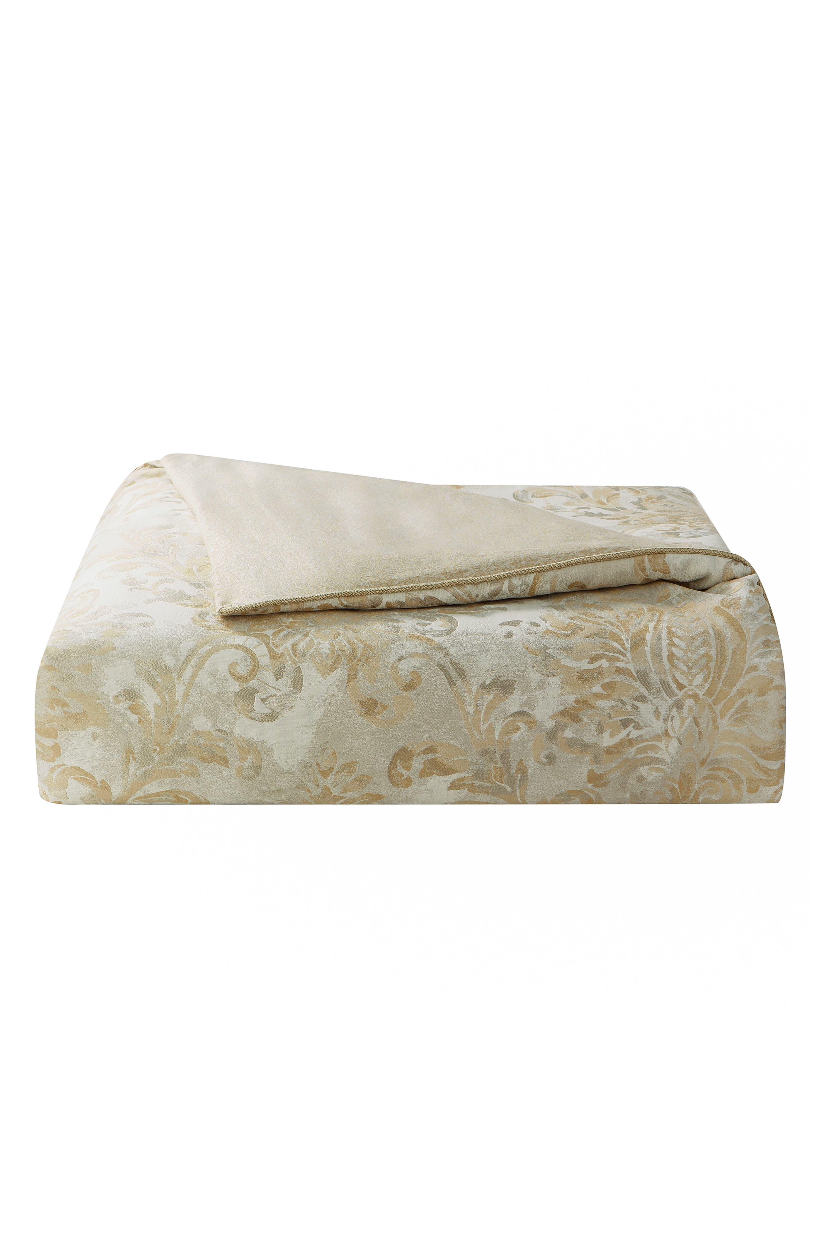 Annalise Reversible Comforter, Sham & Bed Skirt Set,                             Alternate thumbnail 6, color,                             GOLD