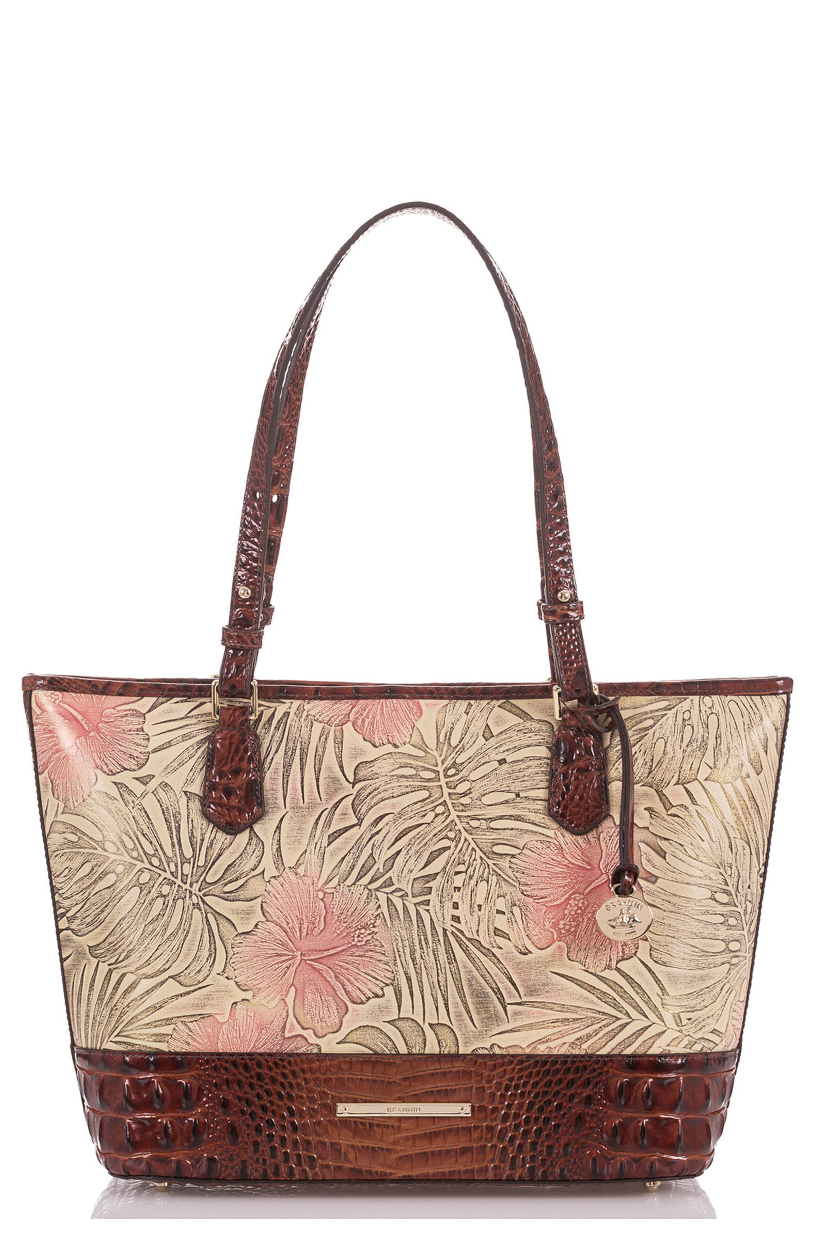 Medium Asher Print Leather Tote,                             Main thumbnail 1, color,