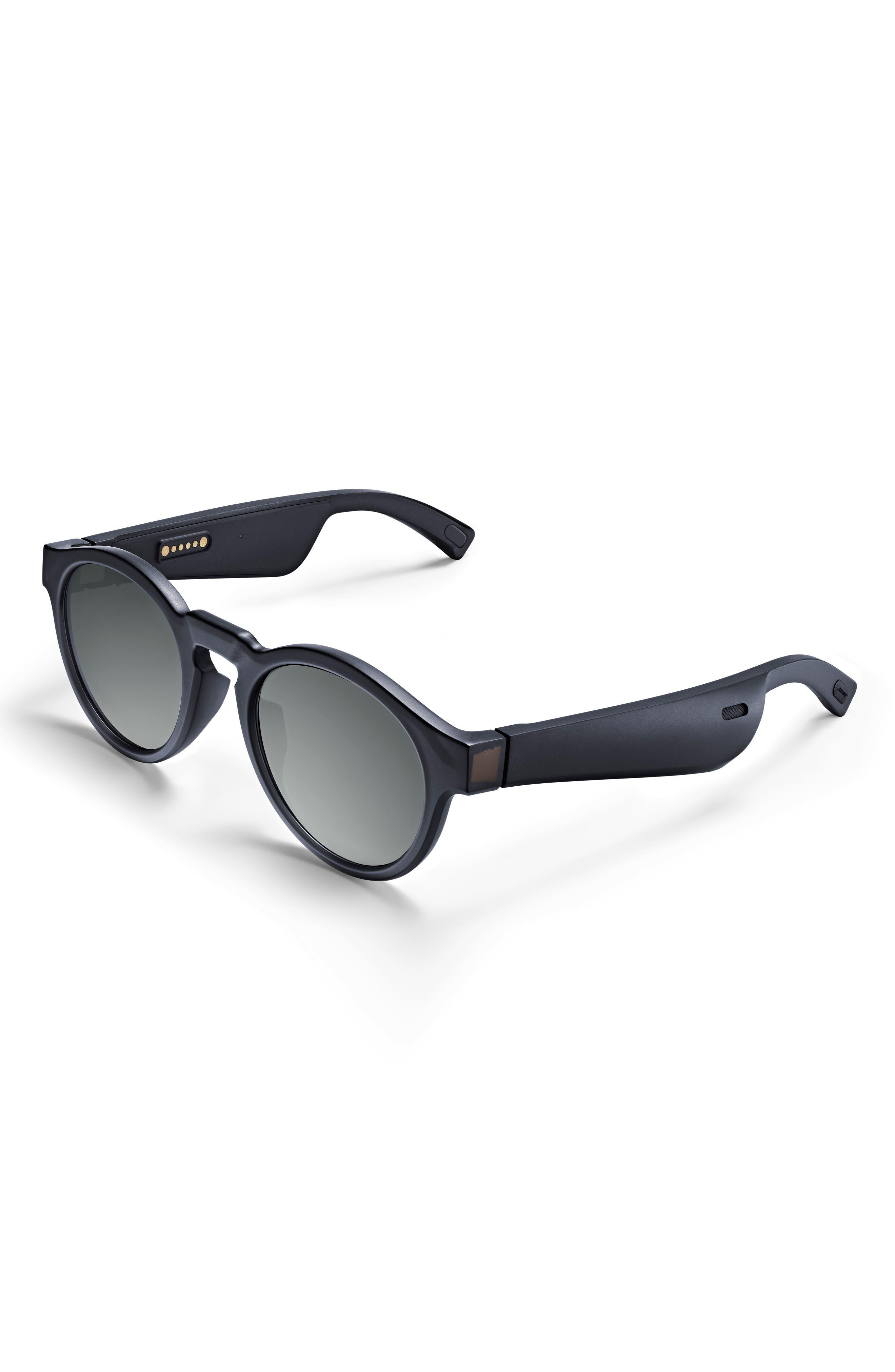 BOSE<SUP>®</SUP>,                             Frames Rondo 50mm Audio Sunglasses,                             Main thumbnail 1, color,                             BLACK