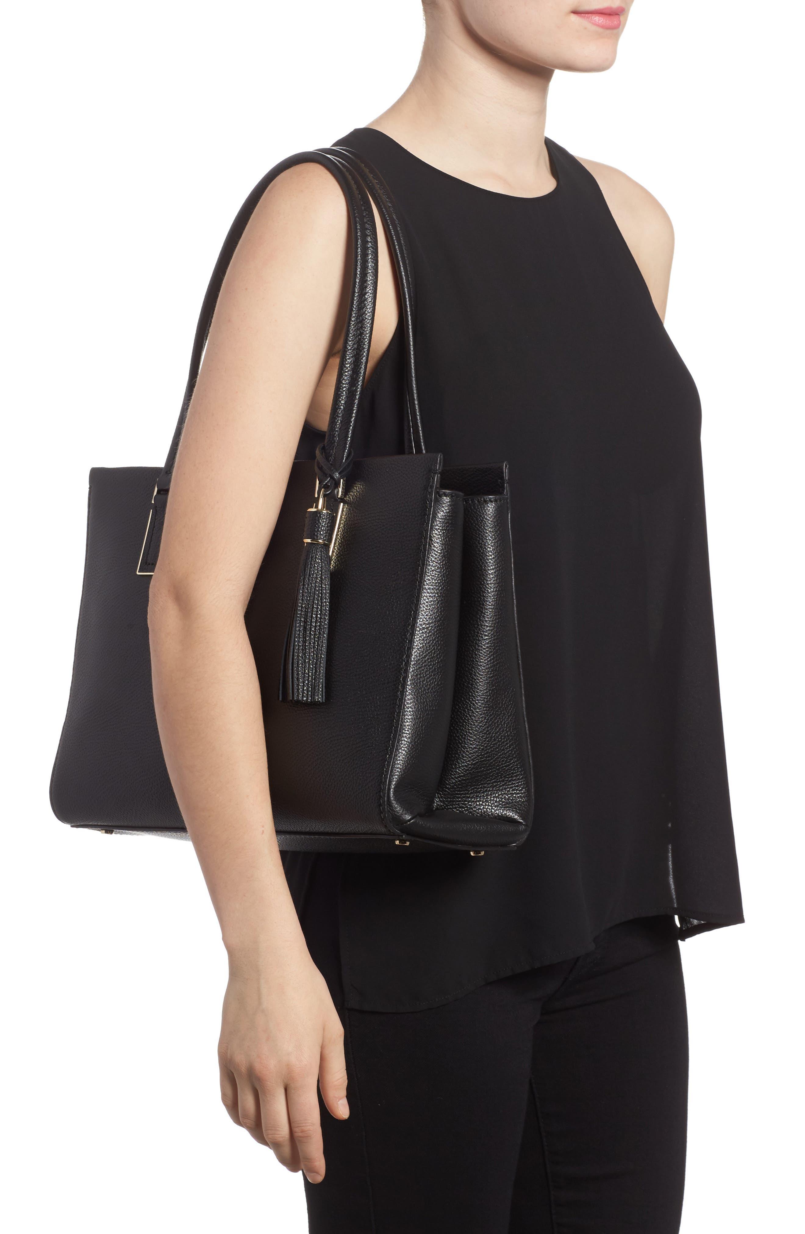 kingston drive - bartlett leather satchel,                             Alternate thumbnail 2, color,                             001