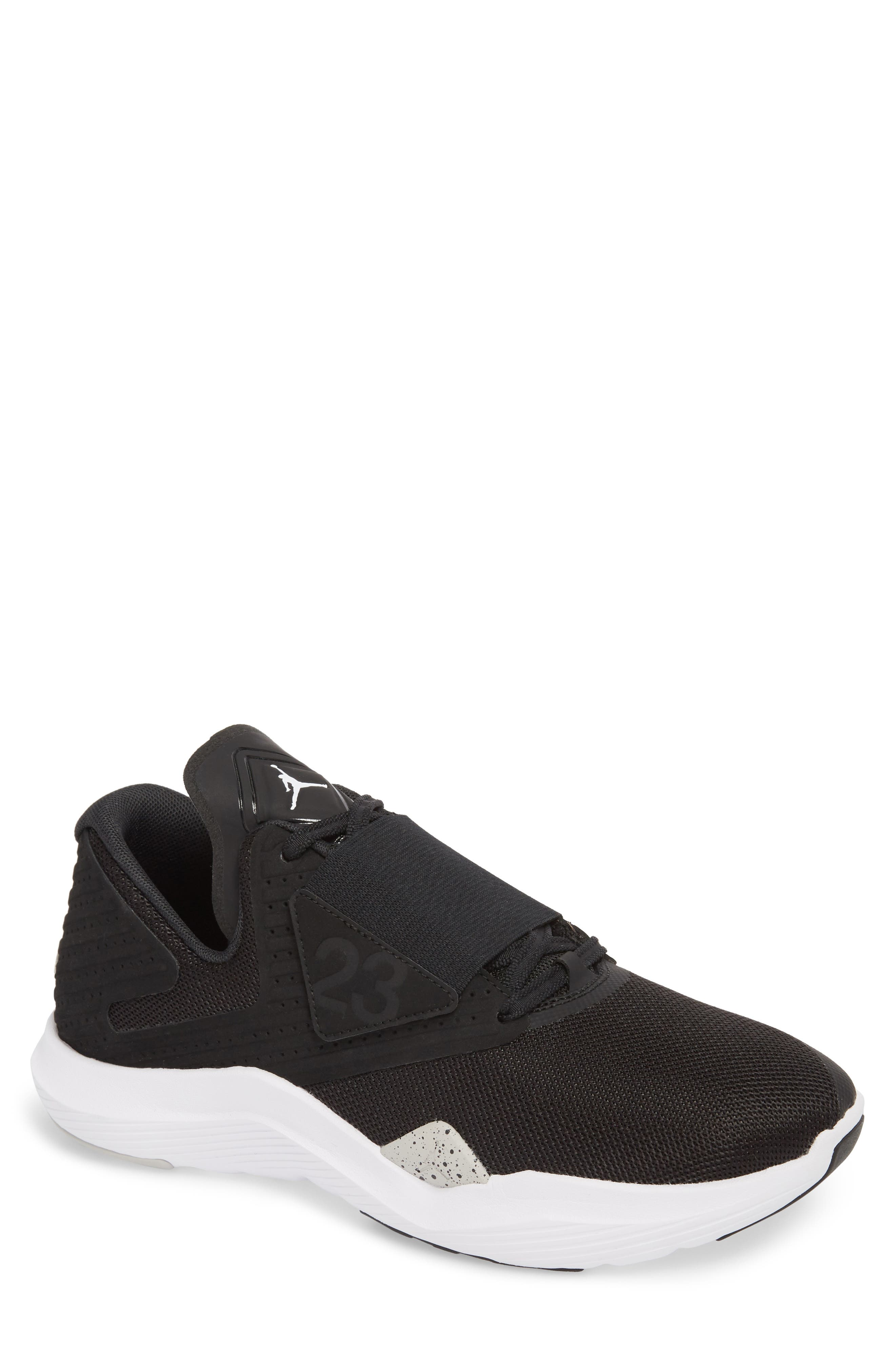 Air Jordan Relentless Training Sneaker,                         Main,                         color, BLACK/ TECH GREY/ WHITE
