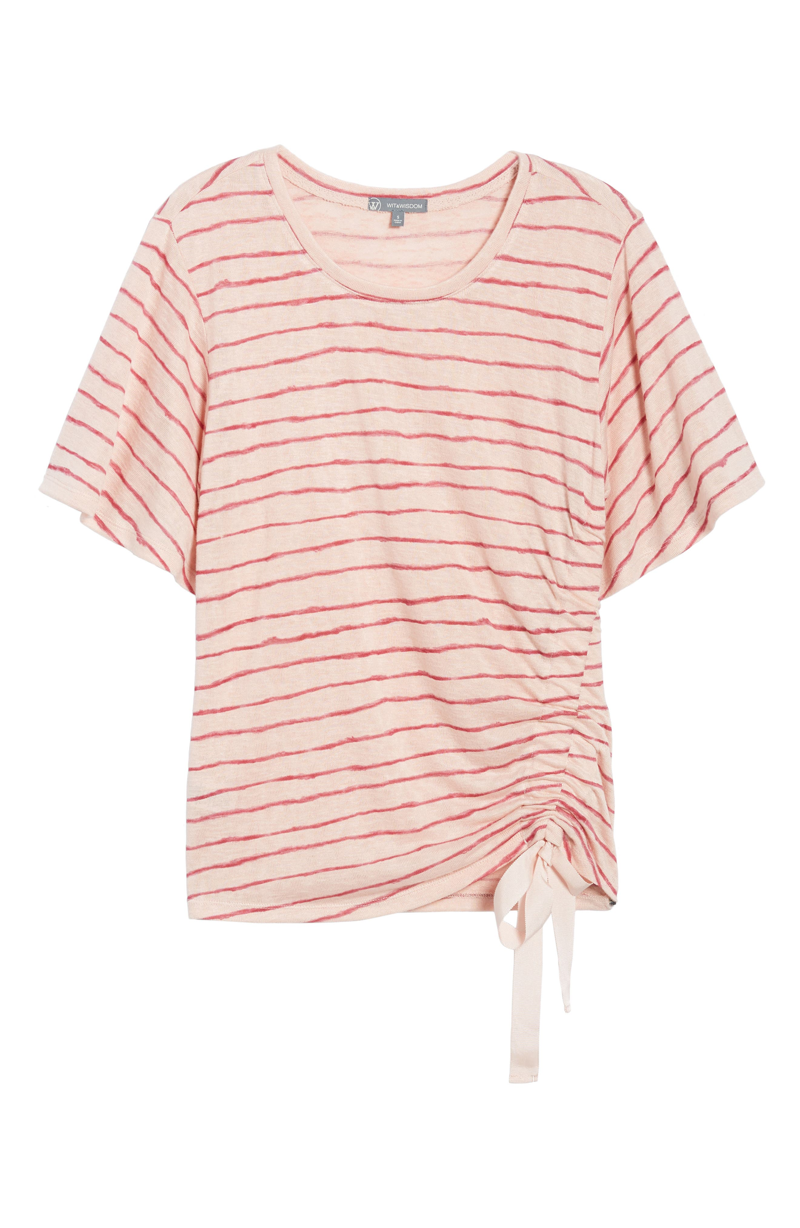 Ruched Side Ribbon Tee,                             Alternate thumbnail 13, color,