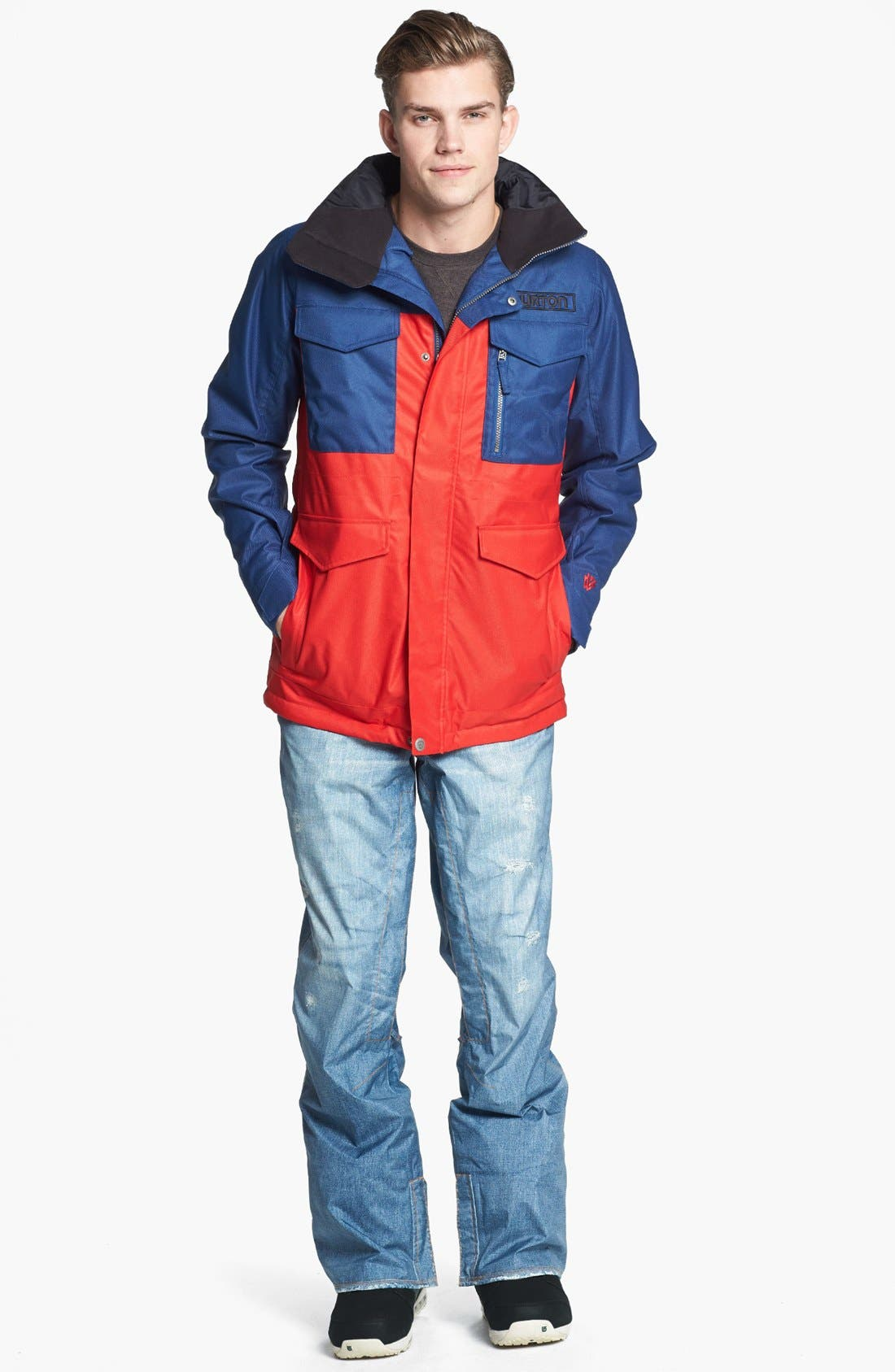 BURTON,                             'The White Collection - Cannon' Waterproof Jacket,                             Alternate thumbnail 3, color,                             414