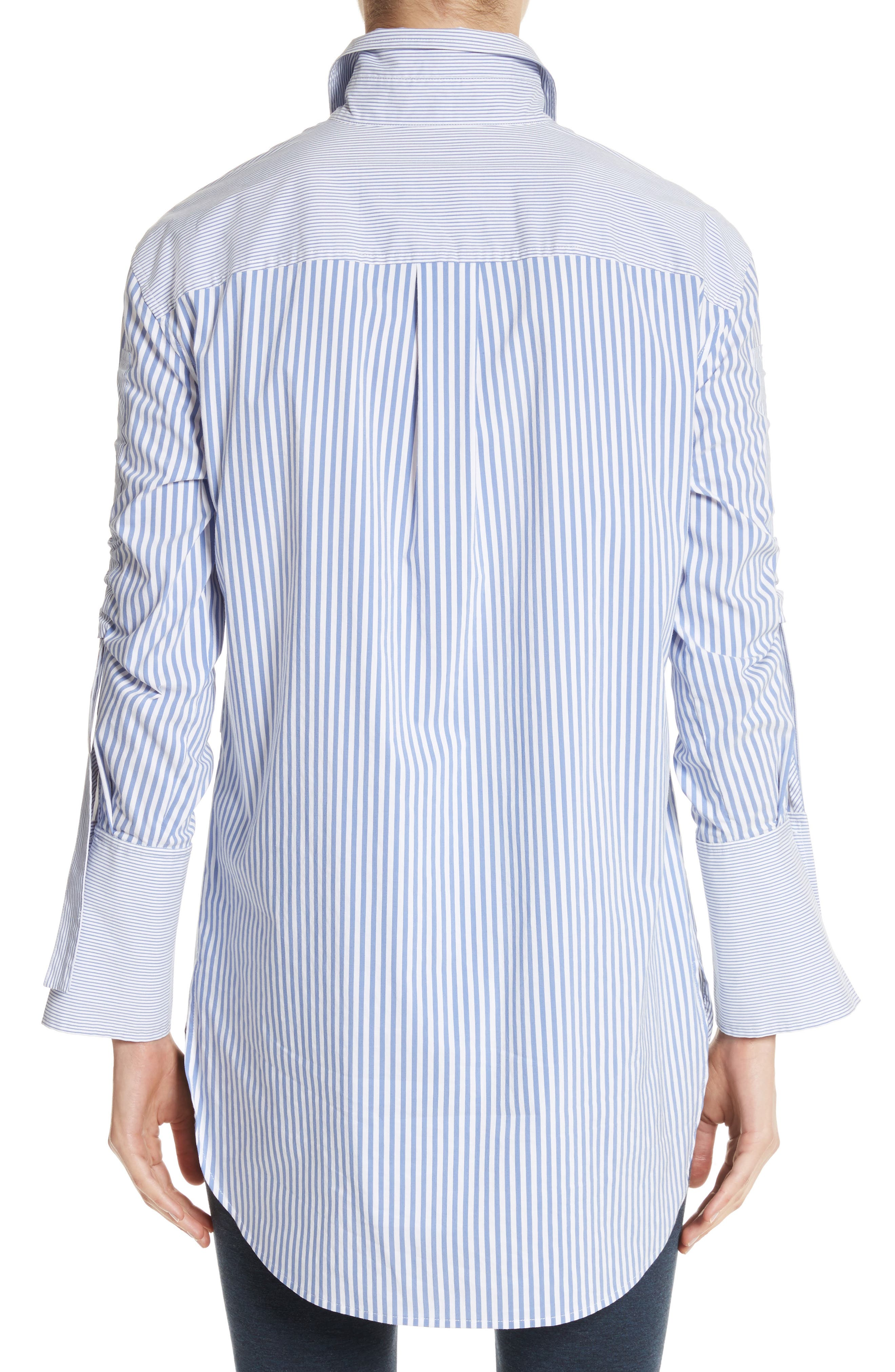 Striped Shirting Tunic,                             Alternate thumbnail 3, color,
