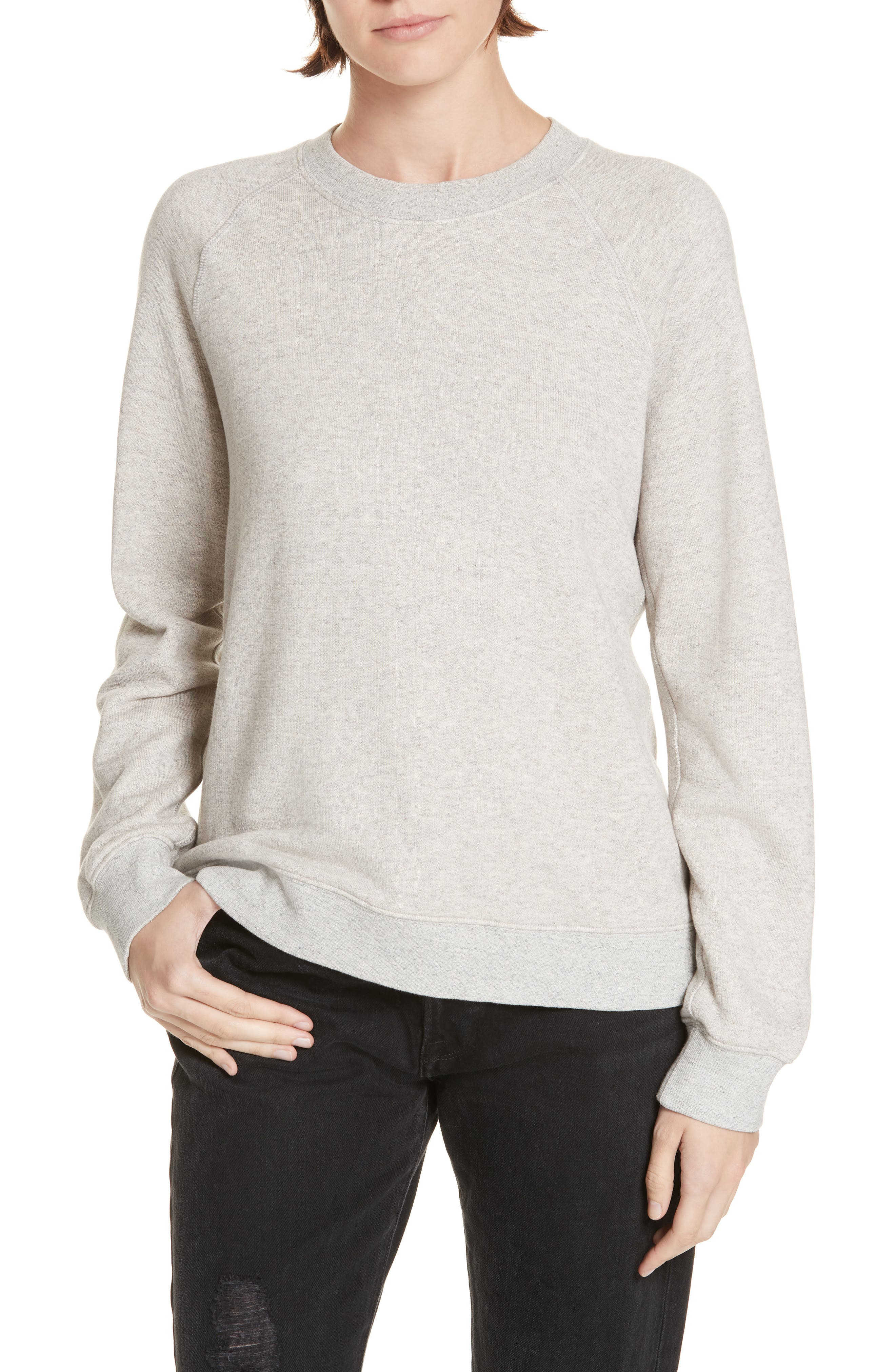 Sweatshirt,                         Main,                         color, OATMEAL