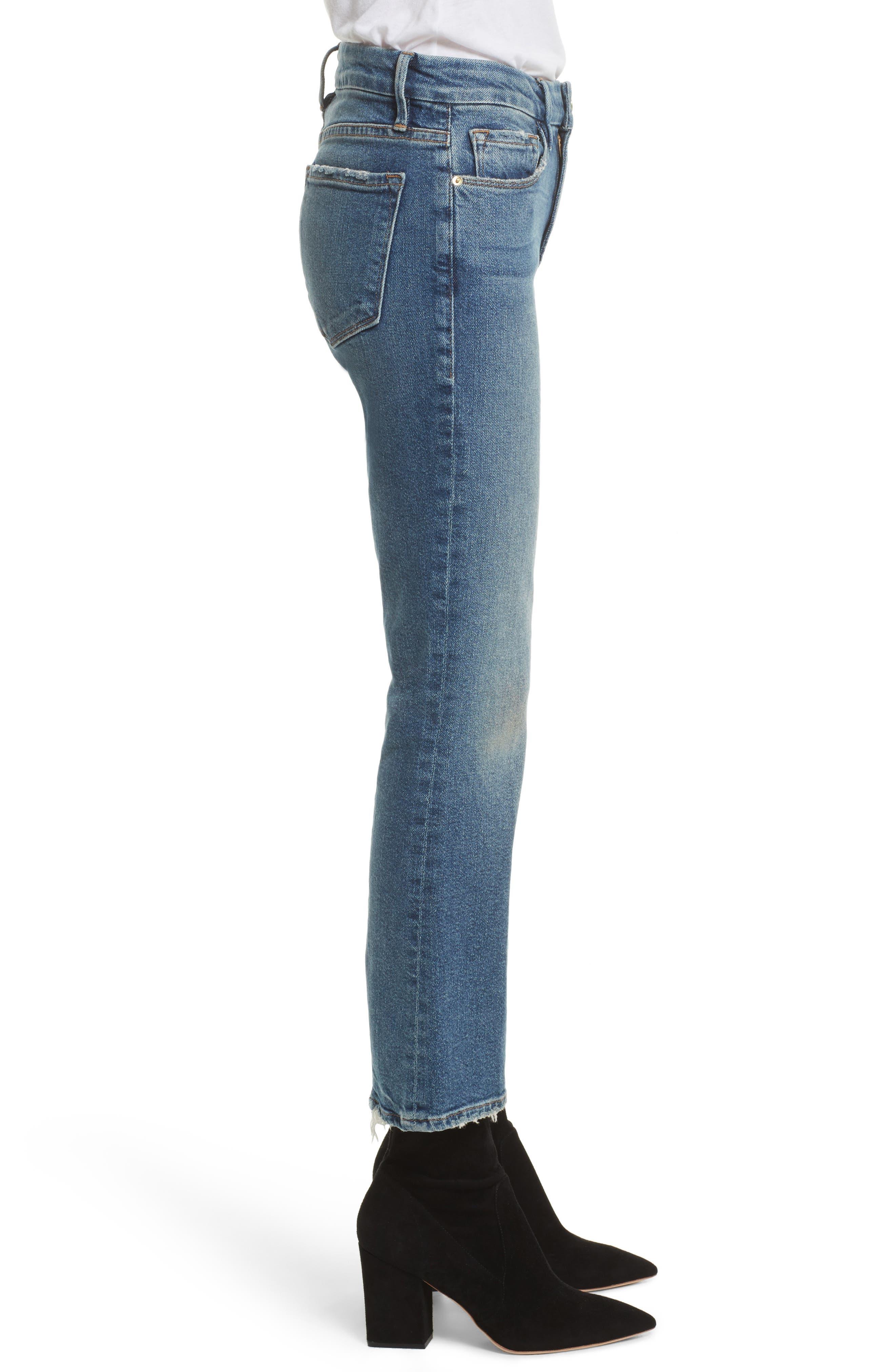 Crop Mini Boot Jeans,                             Alternate thumbnail 3, color,