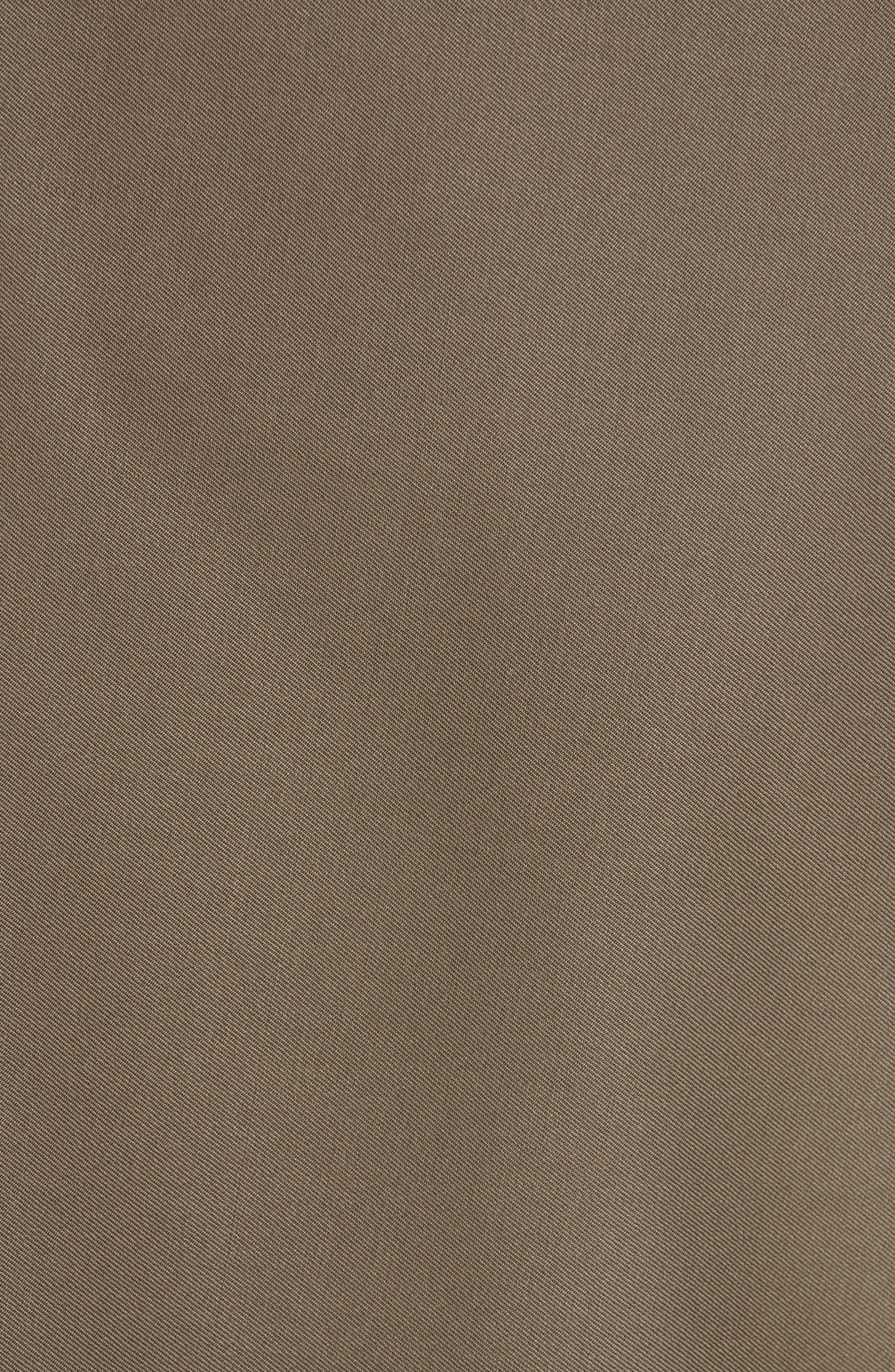 Mixed Media Wool & Cotton T-Shirt Dress,                             Alternate thumbnail 5, color,                             FIR GREEN