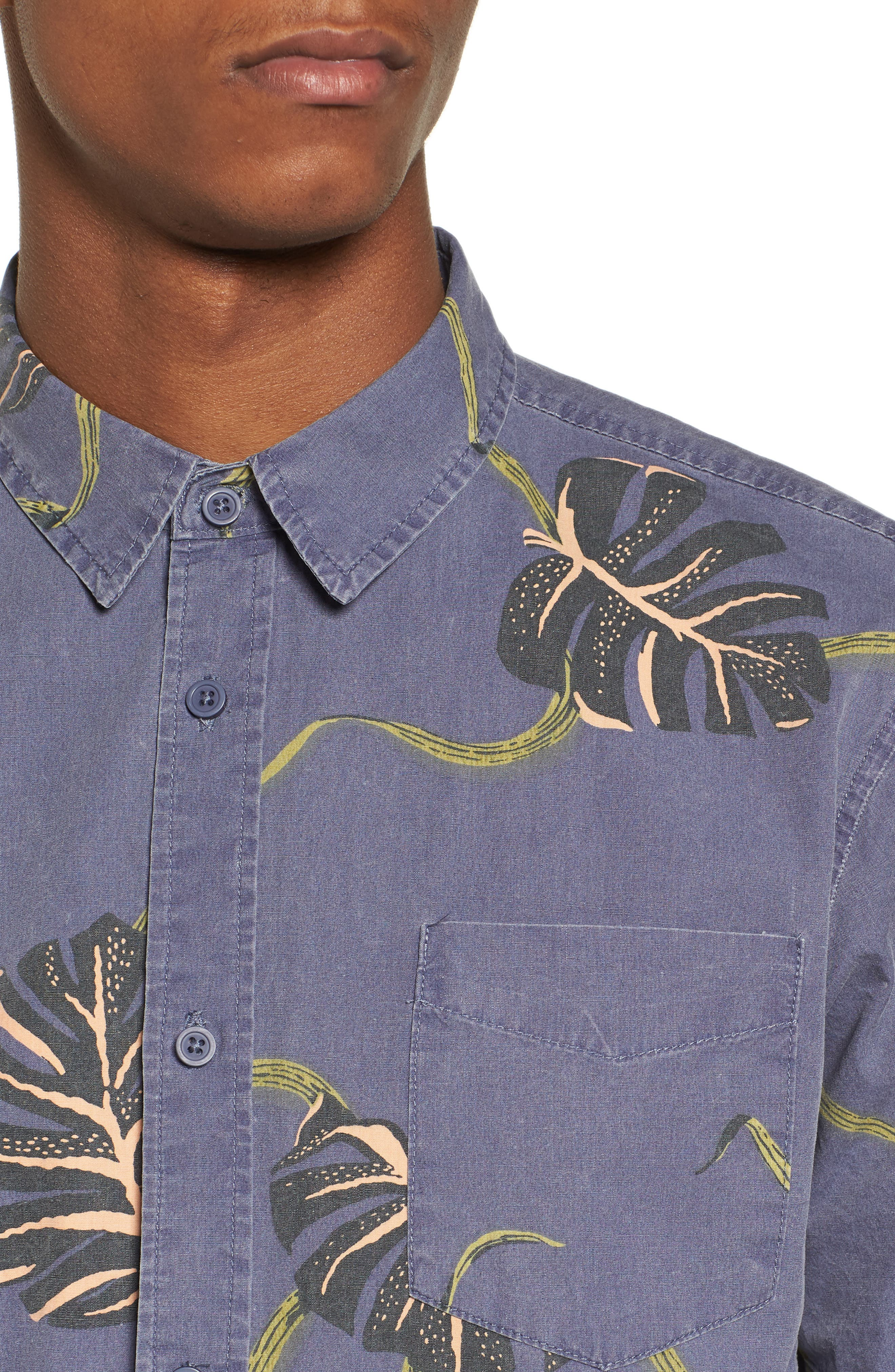 Pointer Woven Shirt,                             Alternate thumbnail 4, color,                             MOONLIGHT BLUE
