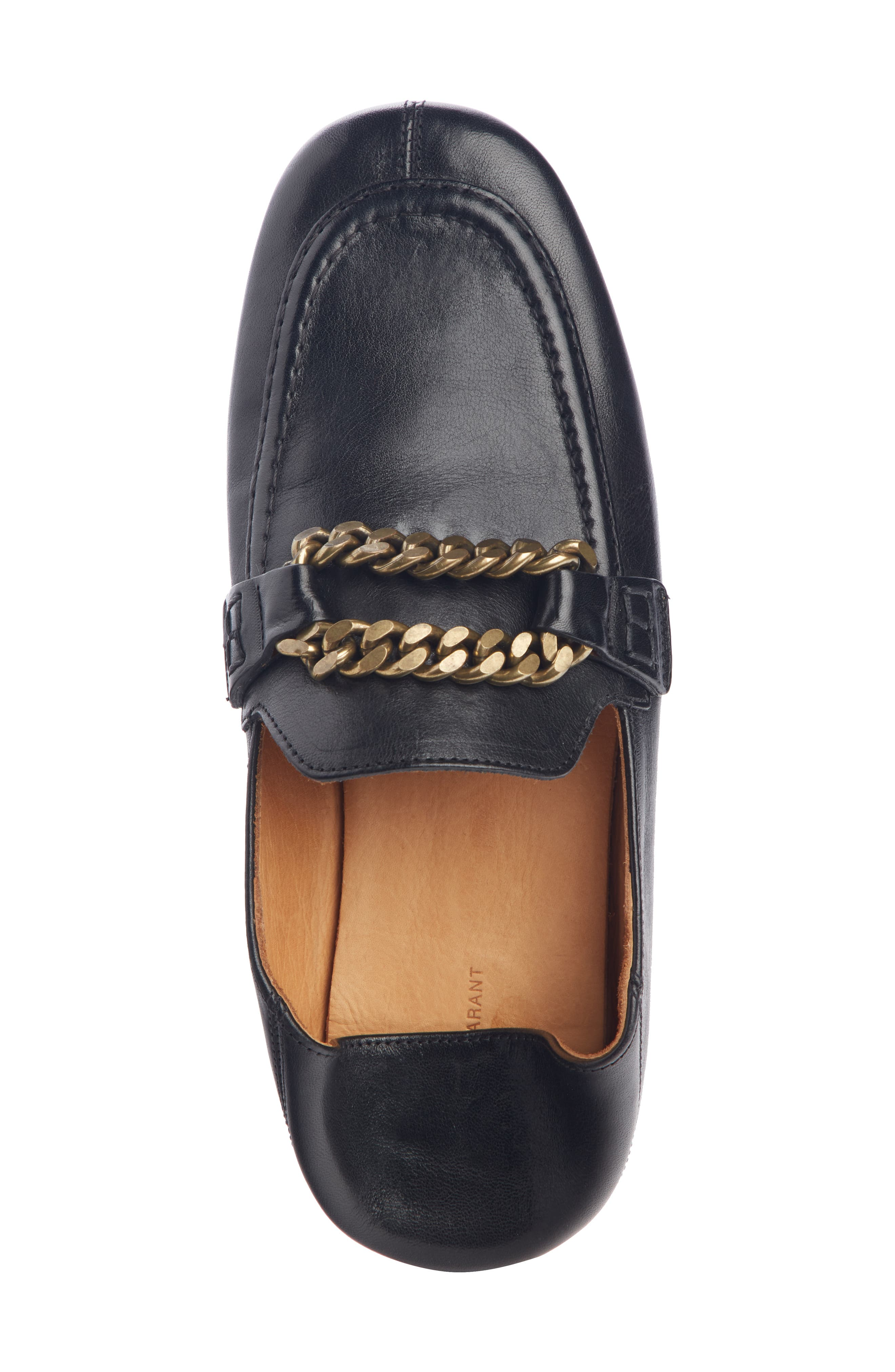 ISABEL MARANT,                             Firlee Chain Convertible Loafer,                             Alternate thumbnail 5, color,                             BLACK