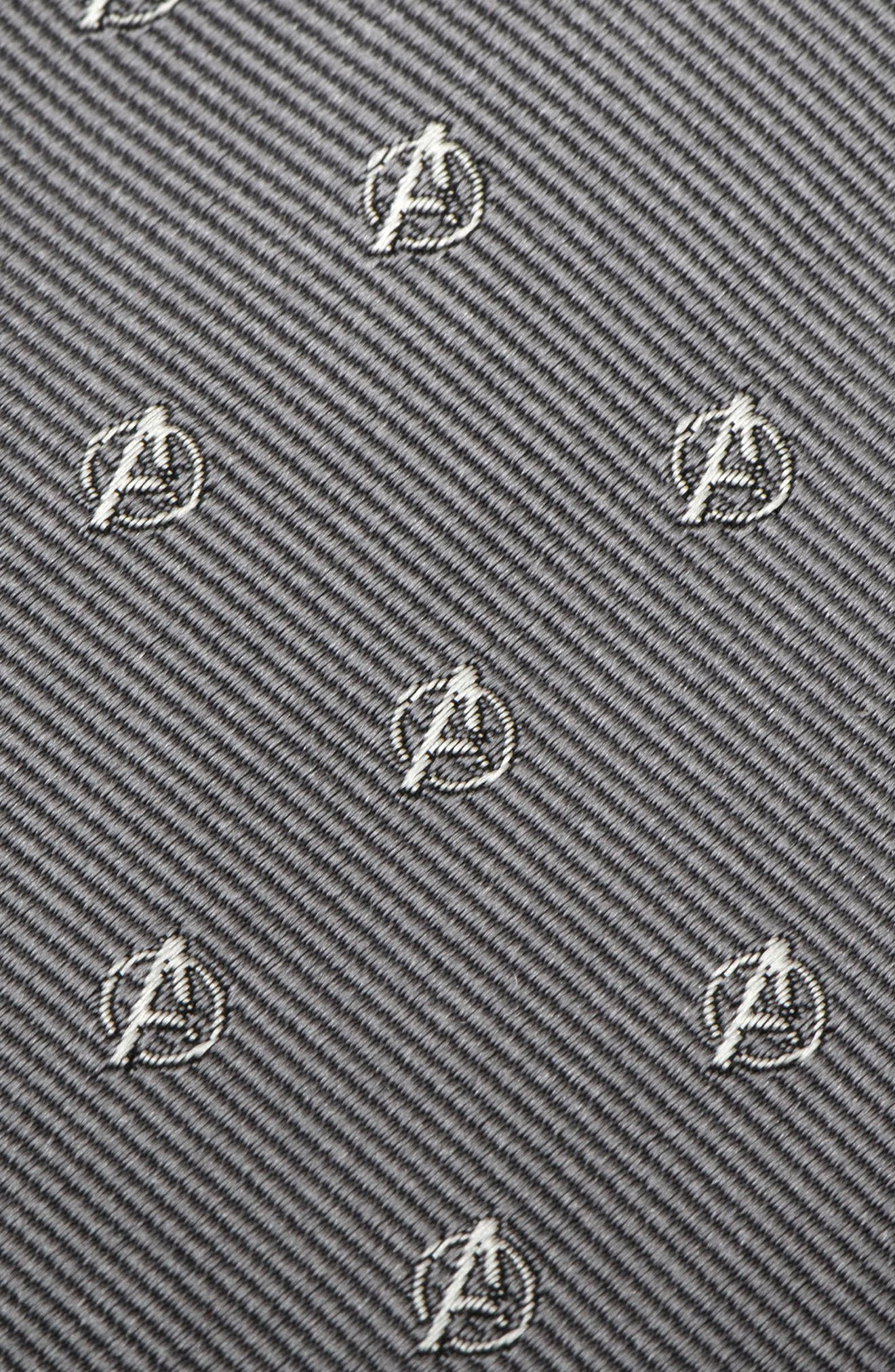 Avengers Silk Tie,                             Alternate thumbnail 3, color,                             020
