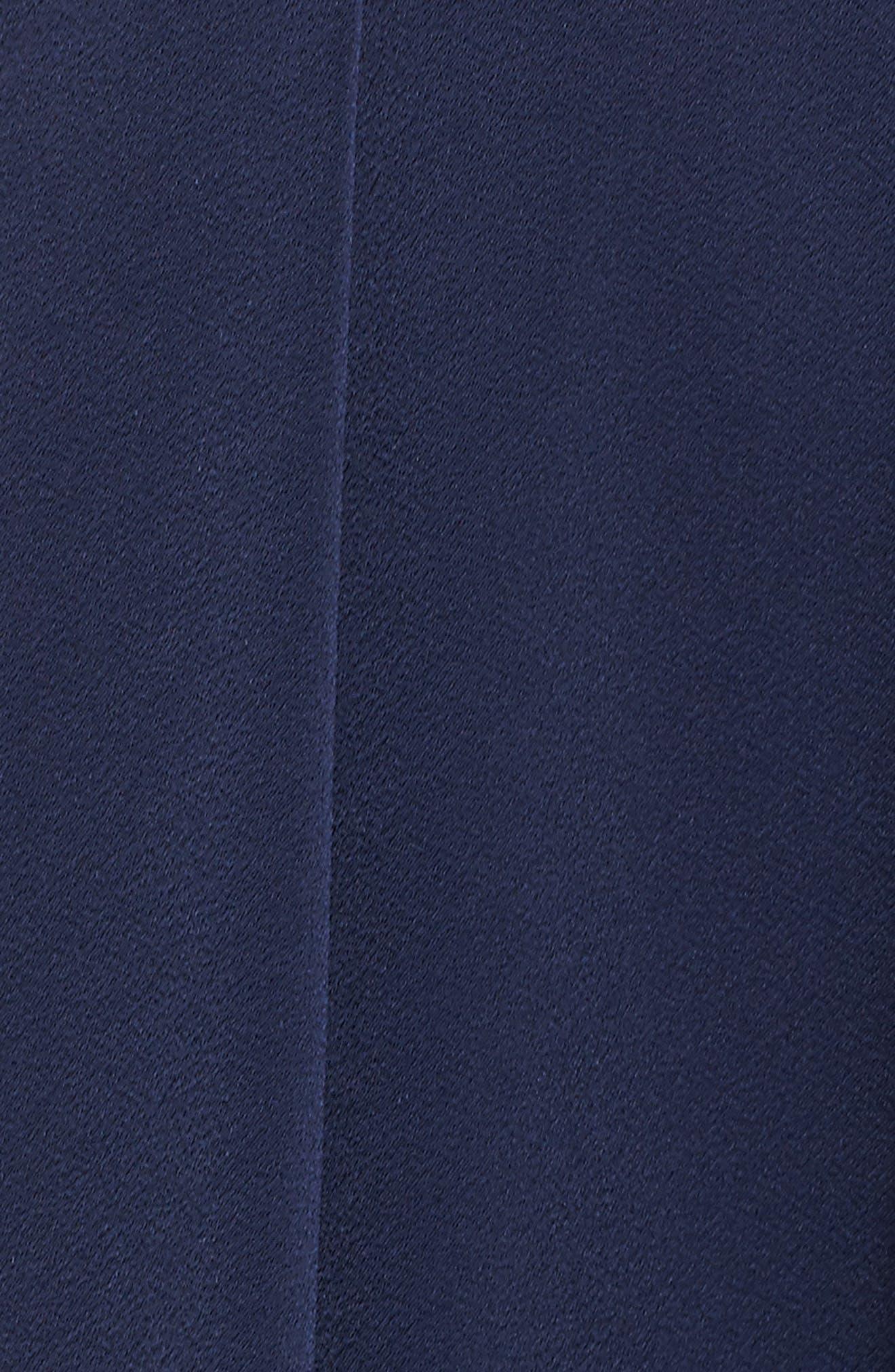Allachie Lace & Crepe High/Low Midi Dress,                             Alternate thumbnail 5, color,                             414