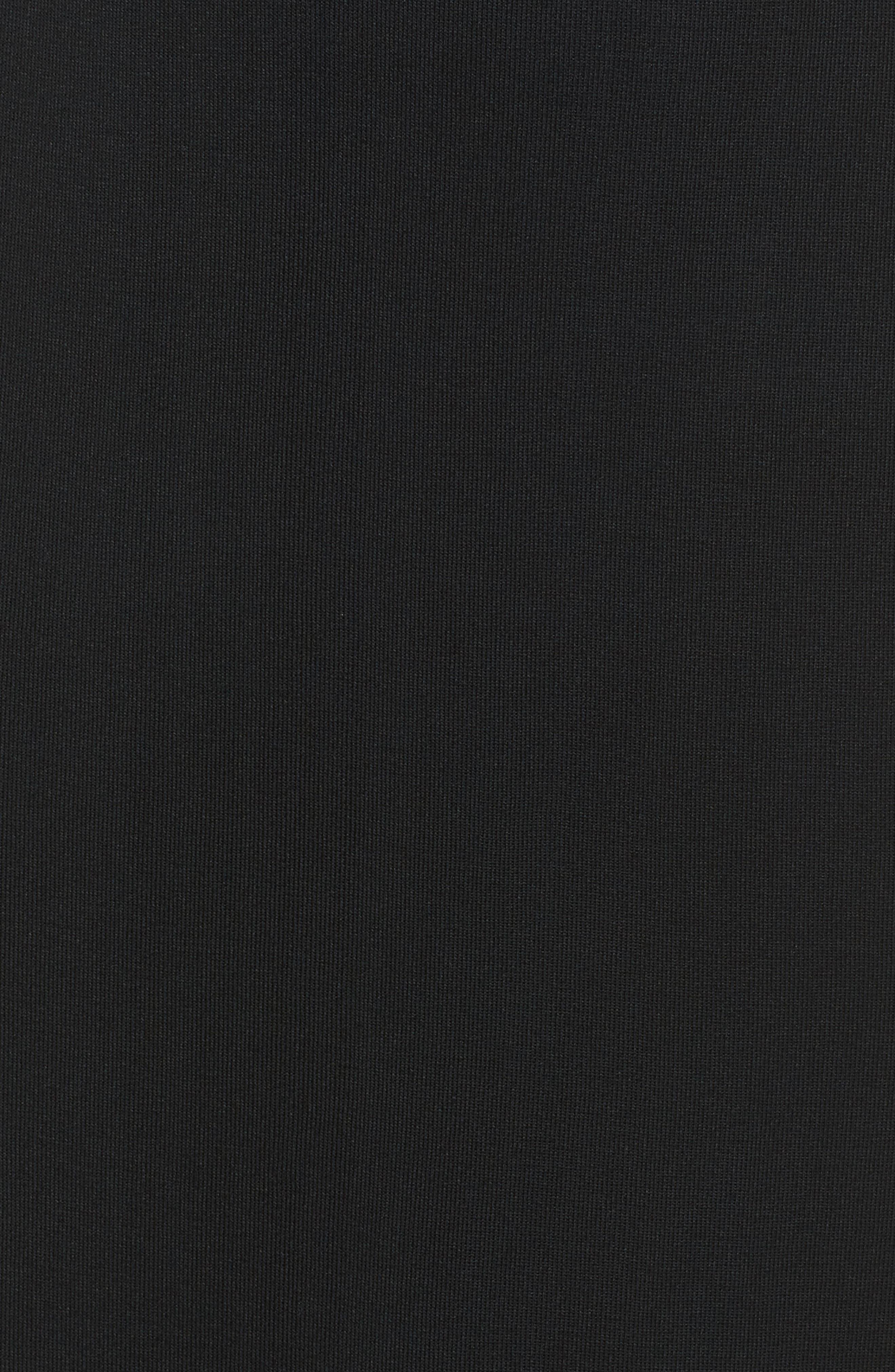 MING WANG,                             Ruffle Hem Skirt,                             Alternate thumbnail 5, color,                             BLACK